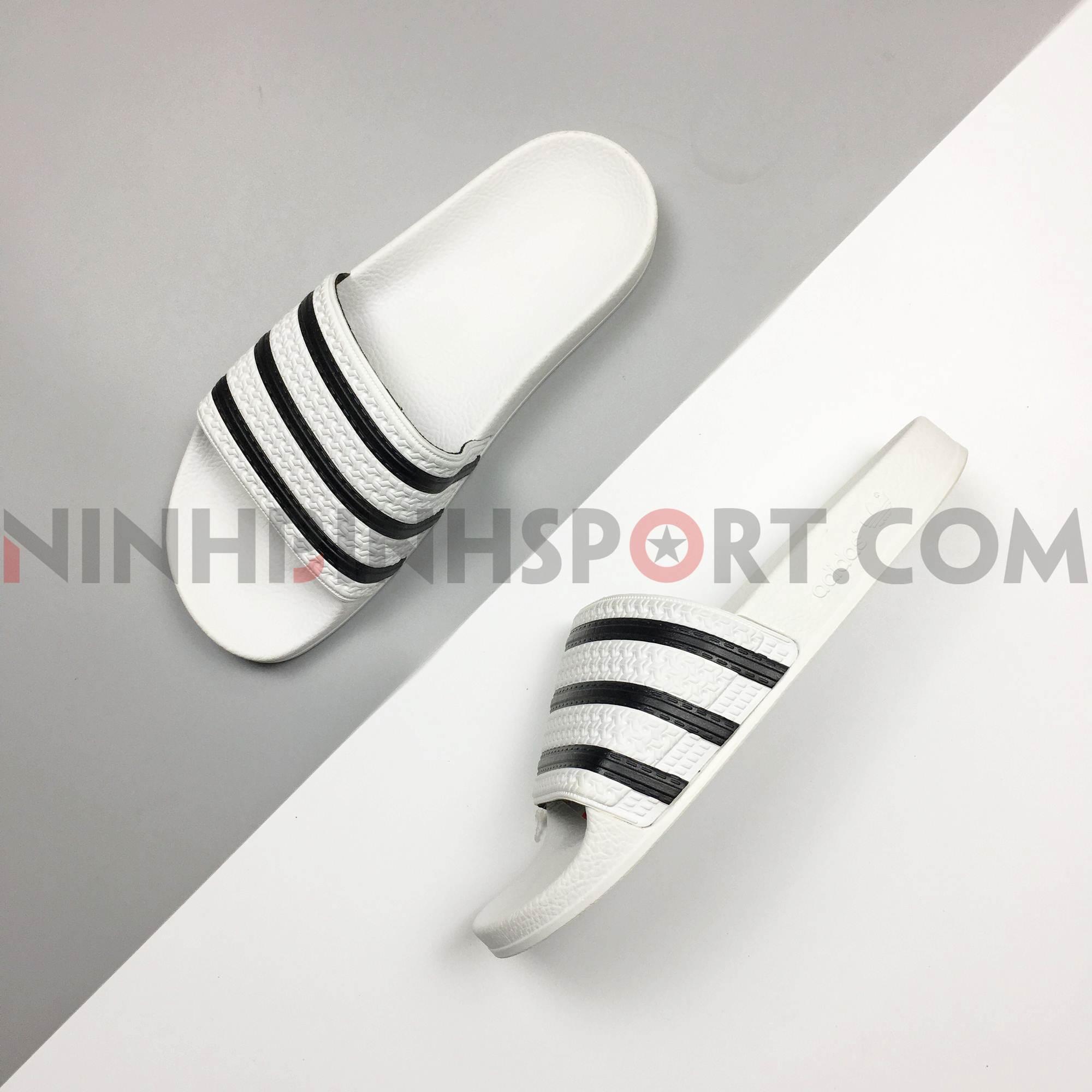 Dép thể thao nam Adidas Adilette Slides White 280648