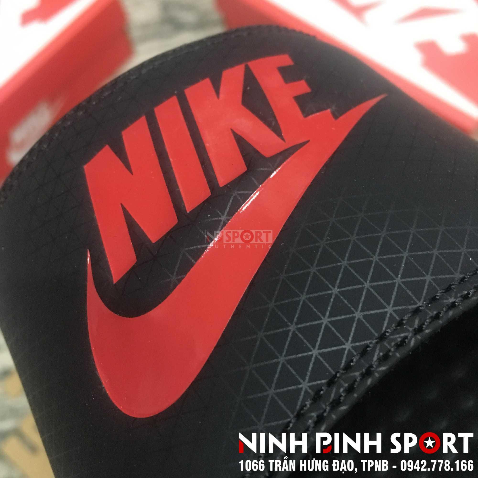 Dép thể thao nam Nike Benassi JDI Slide Black/red 343880-060