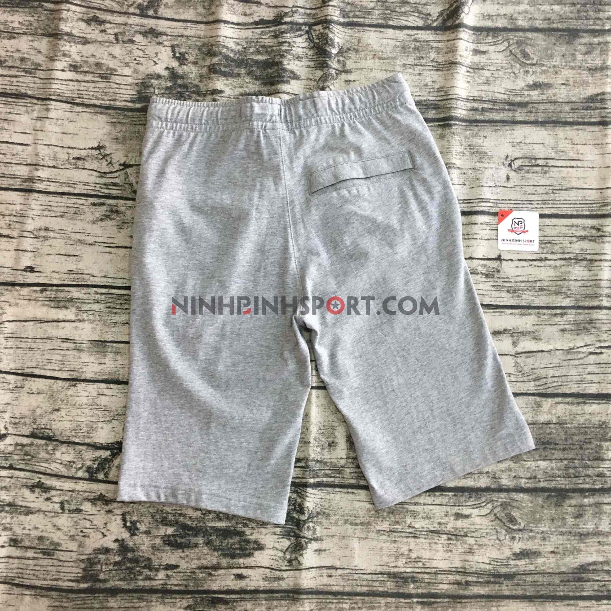 Quần thể thao nam Nike Club Jersey Shorts Grey 804420-063