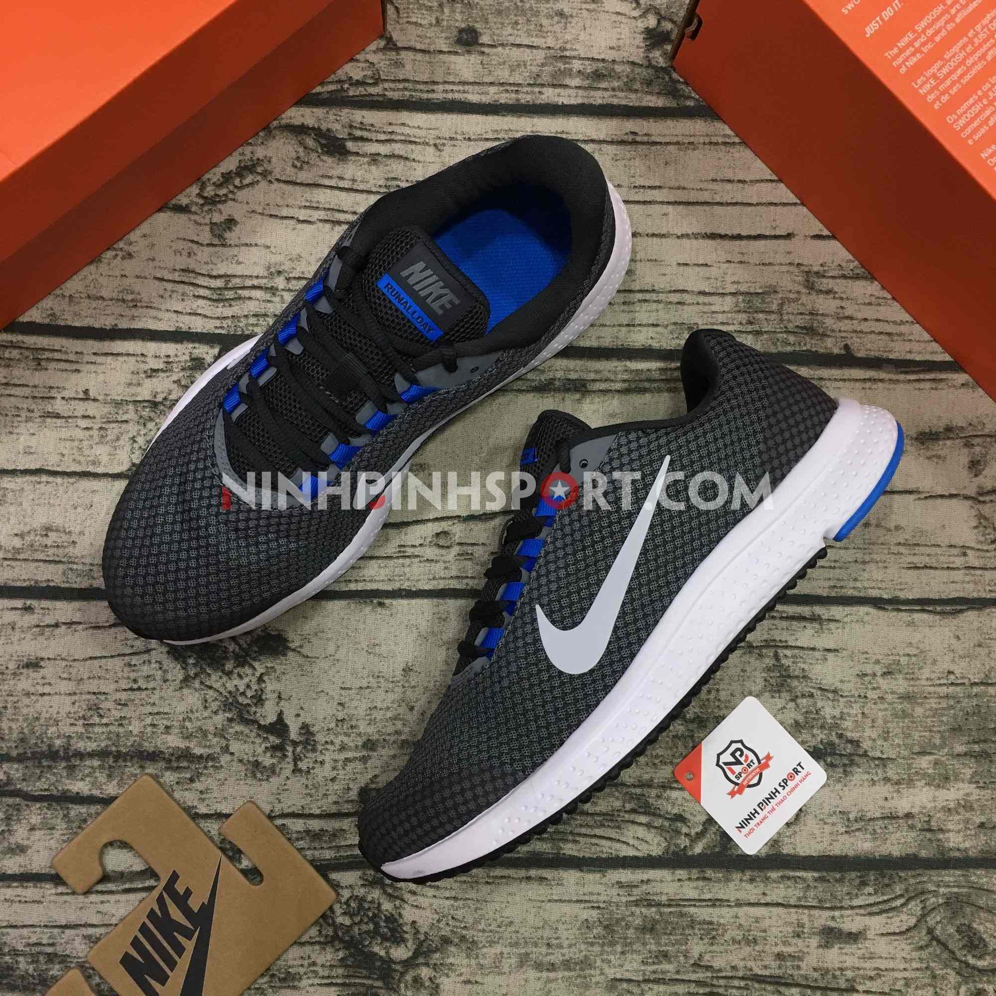 Giầy thể thao nam Nike Running Runallday Grey 898464-018
