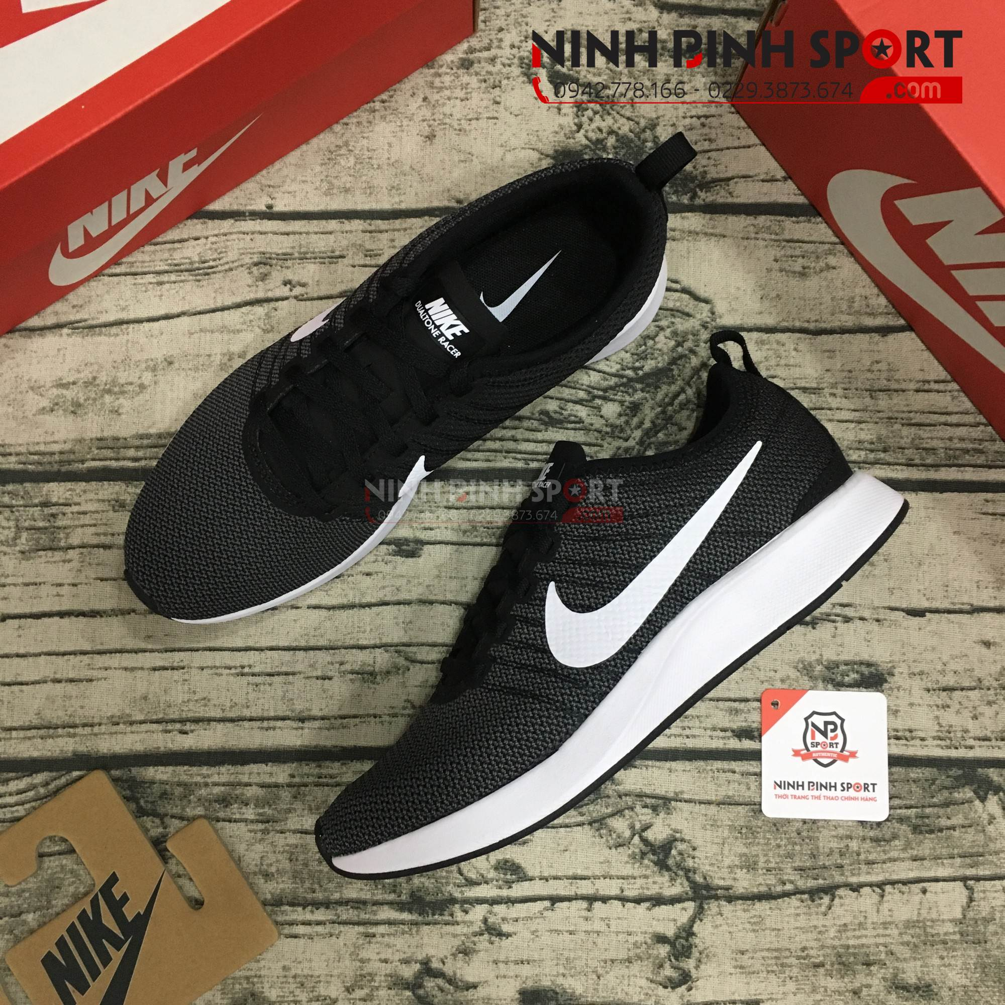 Giầy thể thao nam Nike Dualtone Racer Black 918227-002