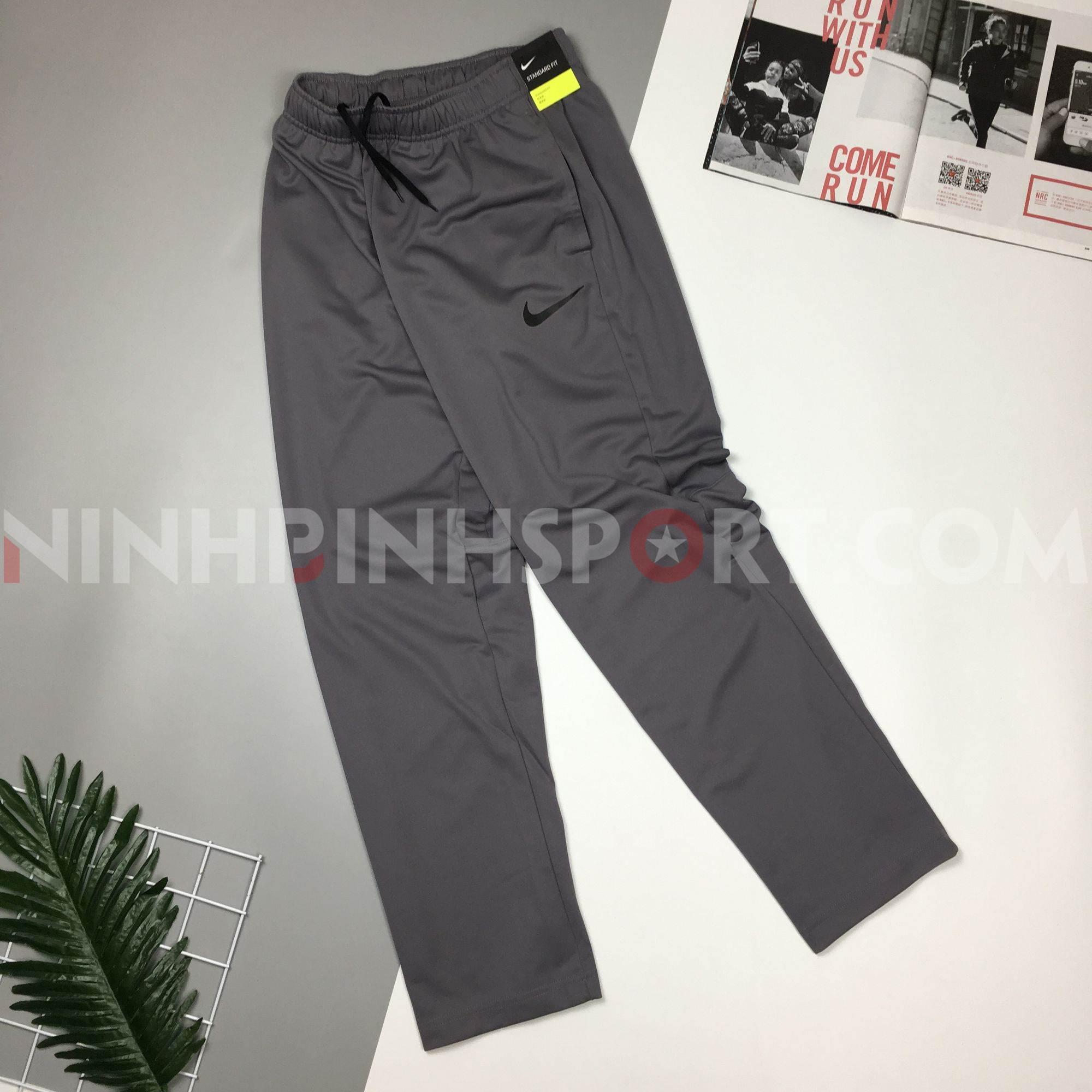 Quần dài thể thao nam Nike Training Epic Knit Grey 927389-036