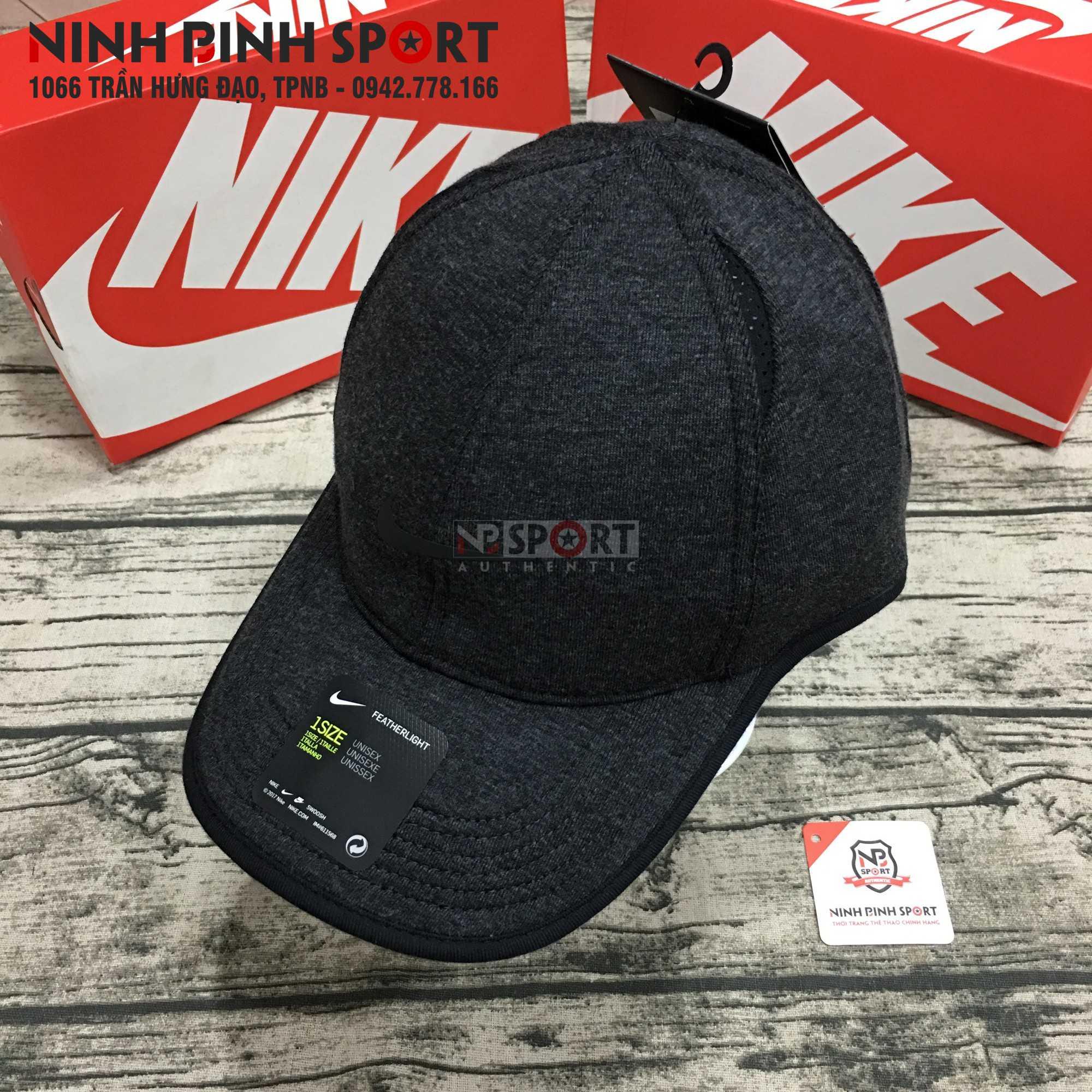 Mũ thể thao nam Nike AeroBill Featherlight Premium Black 932472-032