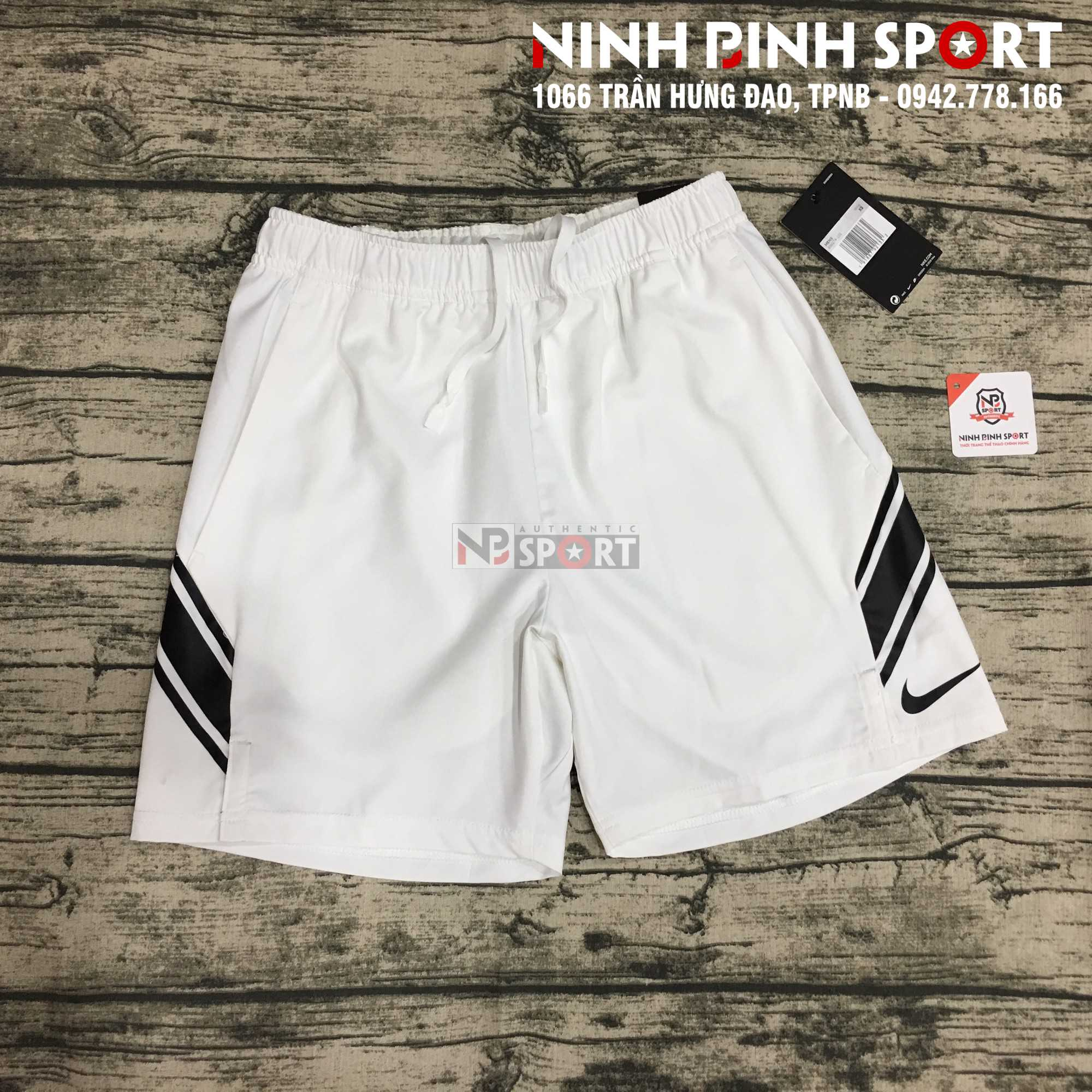 Quần thể thao nam Nike Court Dry Short 7in White 939274-101