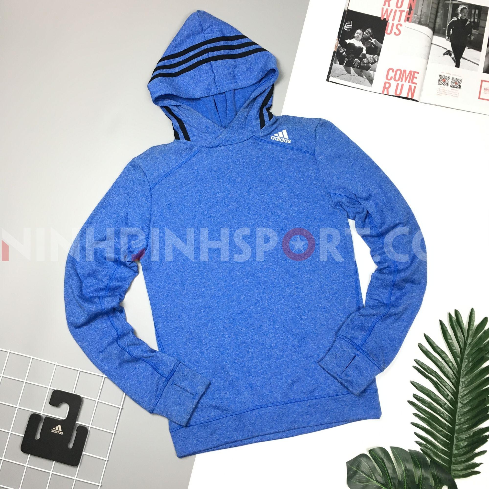 Áo dài tay nam Adidas Response Icon Hoodie - Blue AA6924