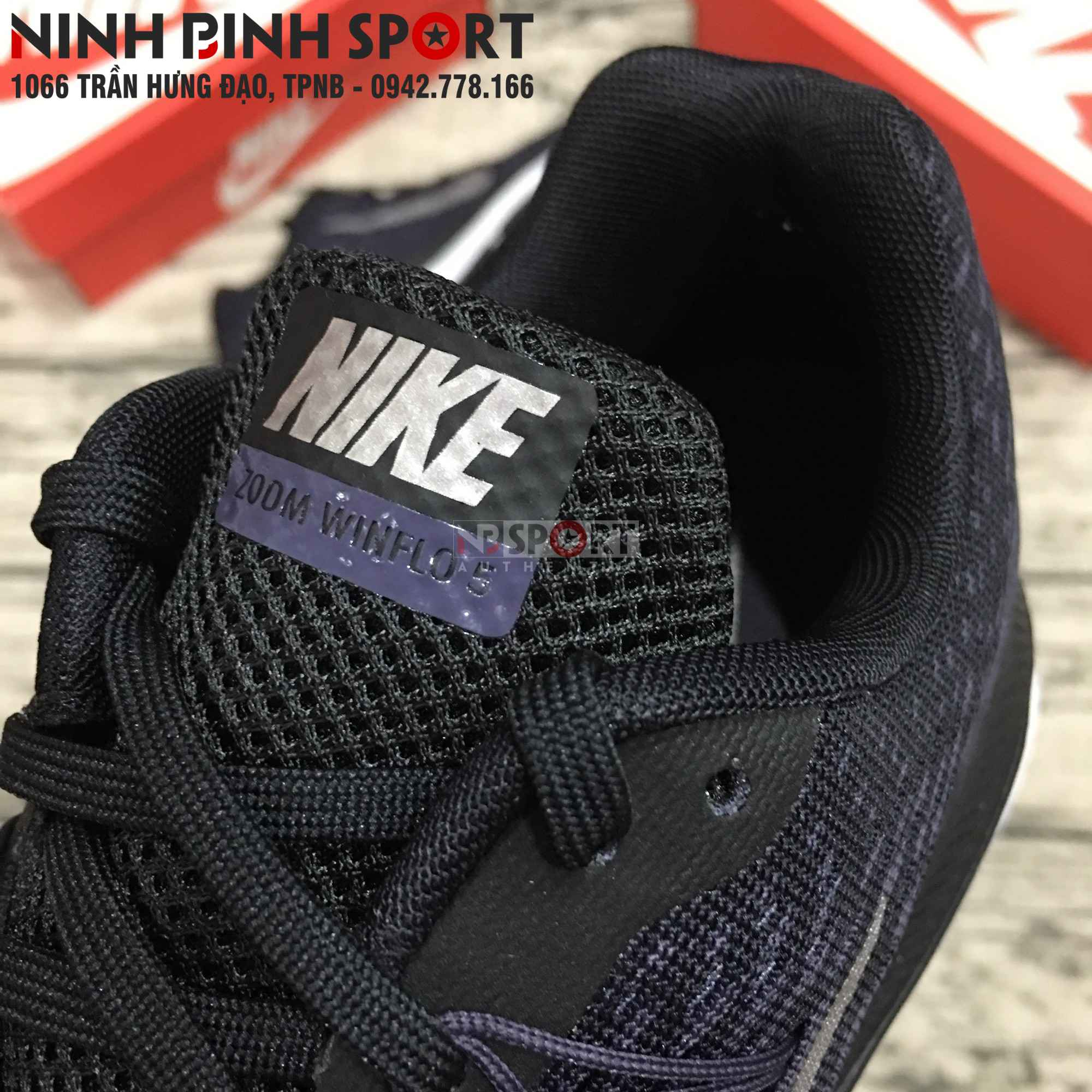 Giầy thể thao nam Nike Air Zoom Winflo 5 Black AA7406-005