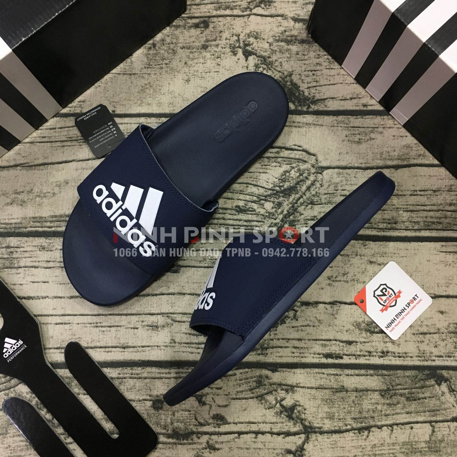 Dép thể thao nam Adidas Adilette Cloudfoam Plus AC8329
