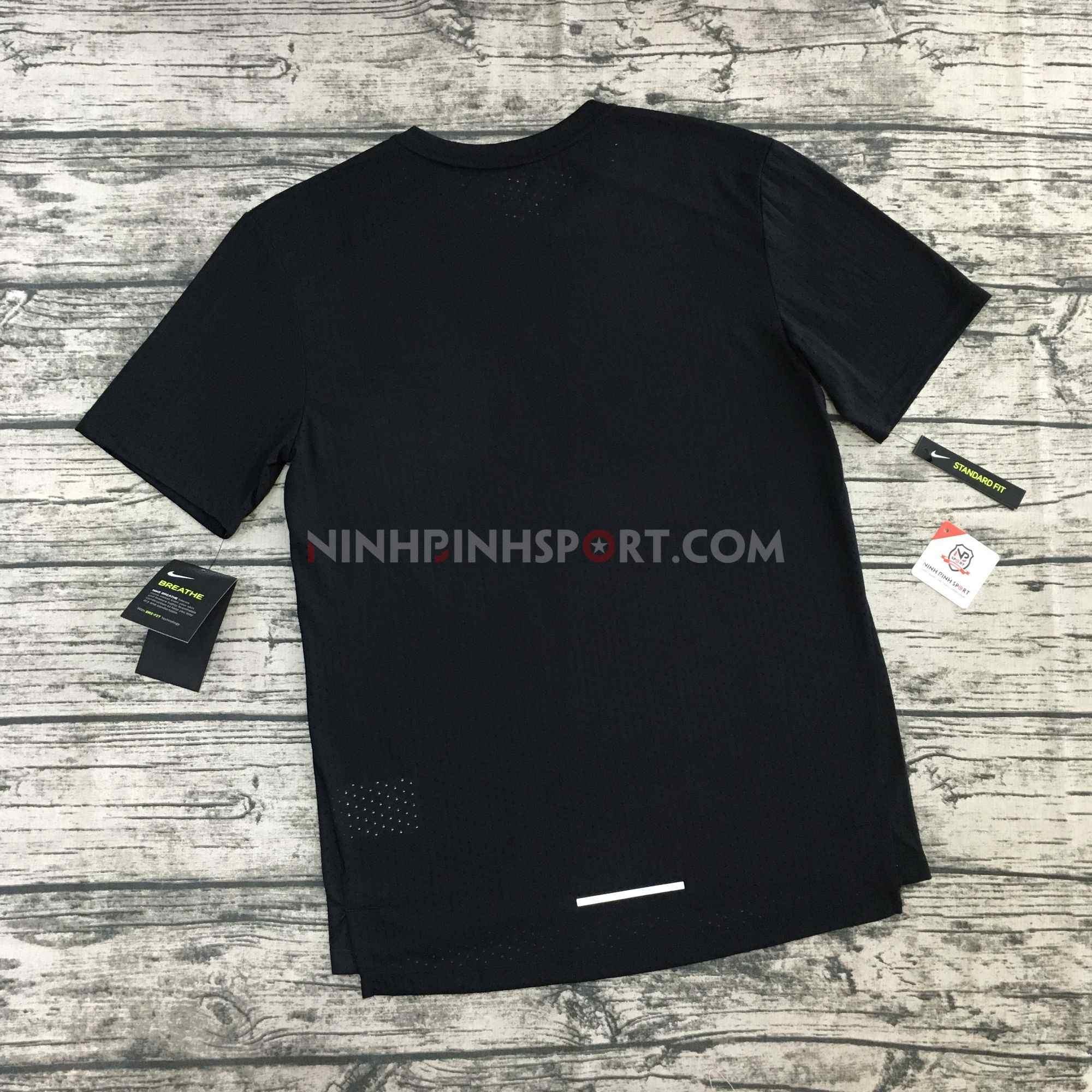 Áo thể thao nam Nike Breathe Rise 365 Black AQ9920-010