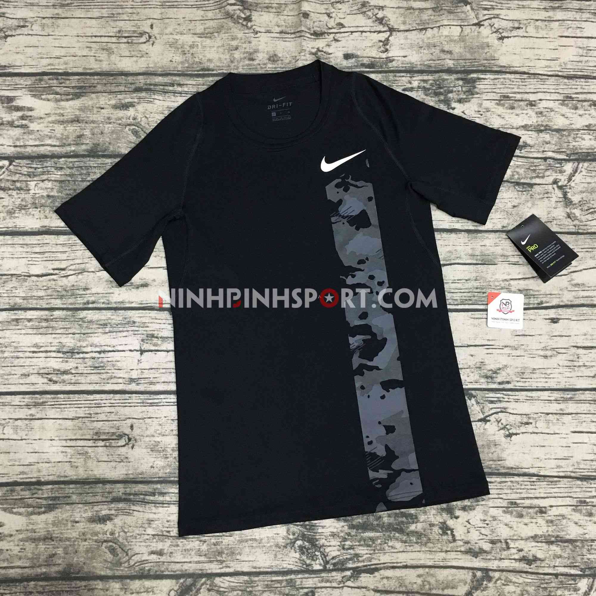 Áo thể thao nam Nike Pro Camo Top AQ1195-010