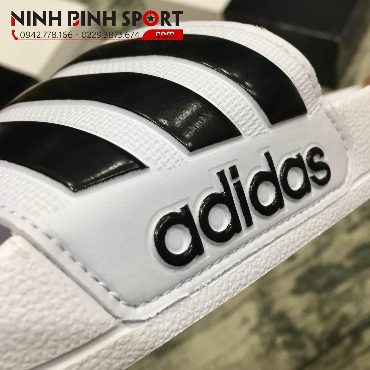 Dép Adidas Chinelo Cloudfoam Adilette White AQ1702