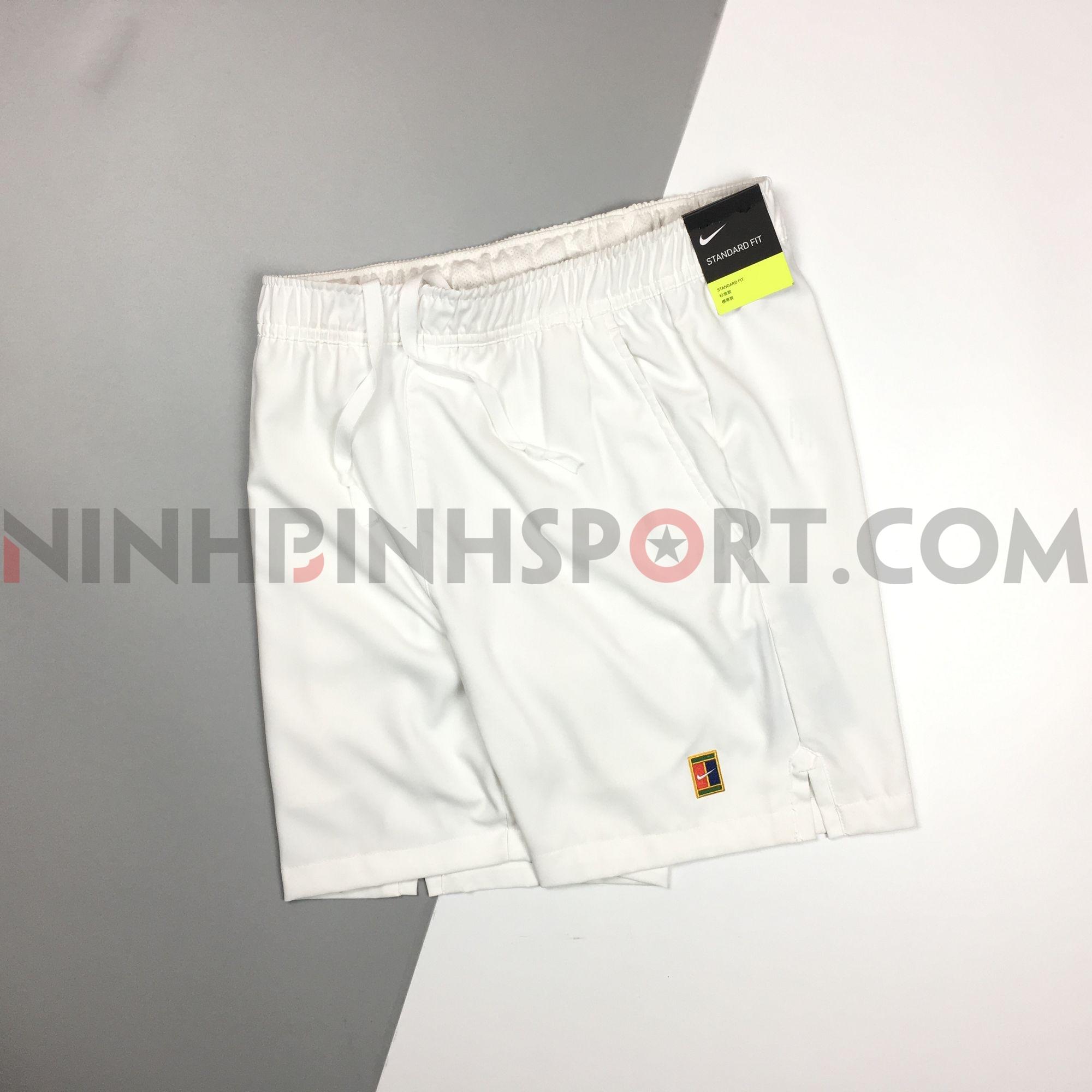 Quần thể thao nam Nike Court Dry Short 8in White AQ8287-100