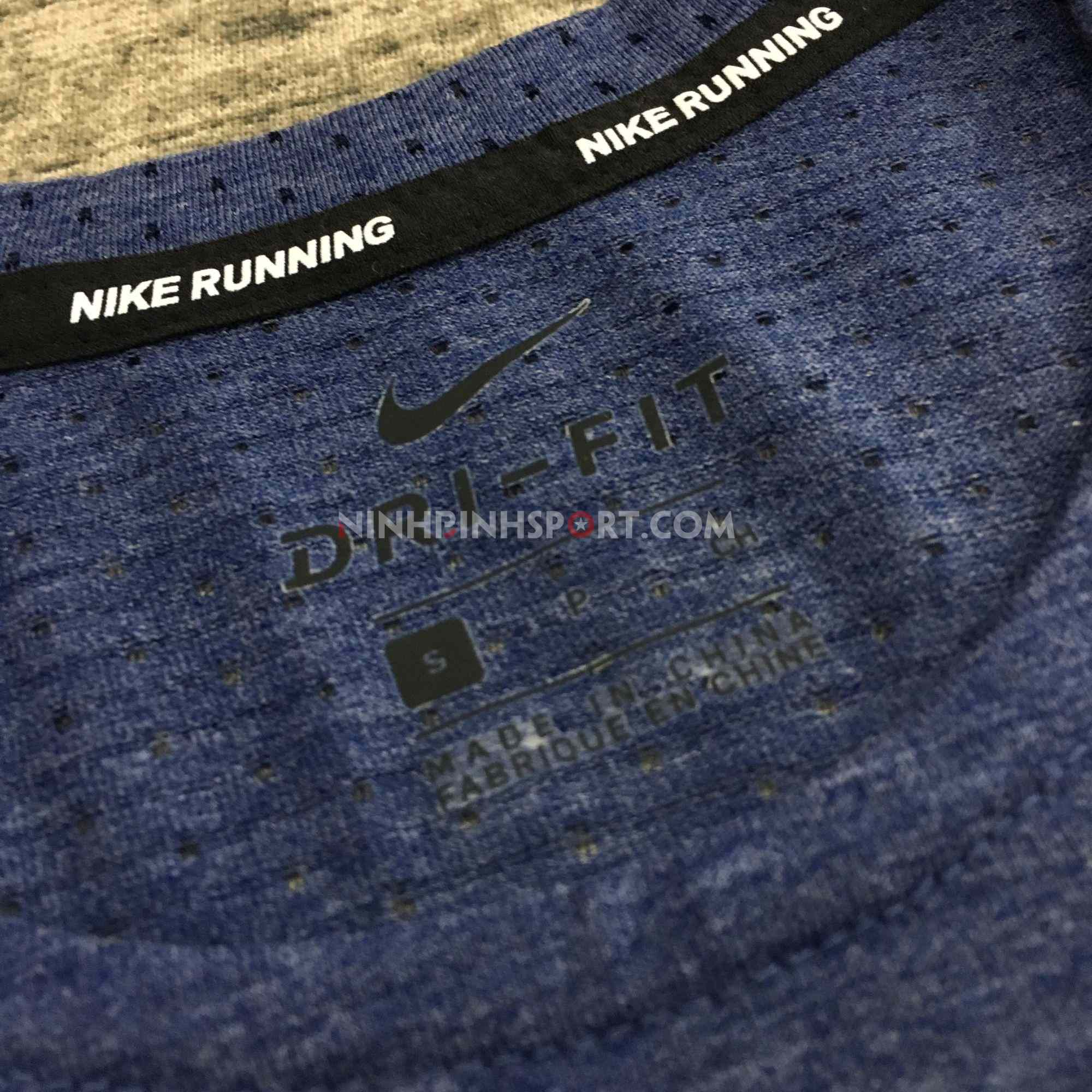 Áo thể thao nam Nike Breathe Rise 365 Blue AQ9920-492