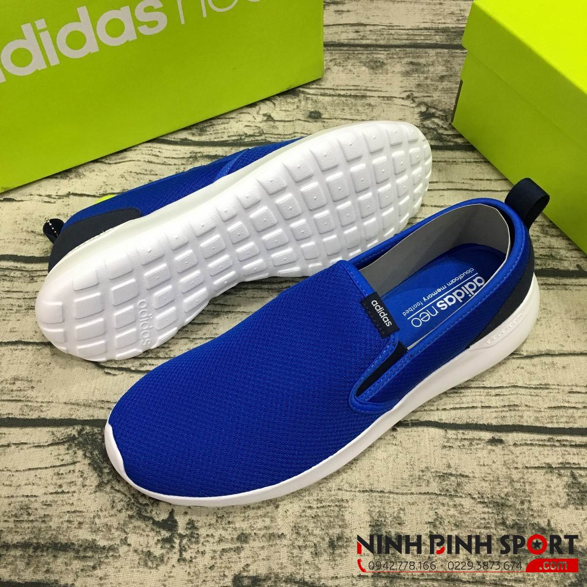 Giày Adidas Neo Cloudfoam Lite Racer Slip-On AW4185