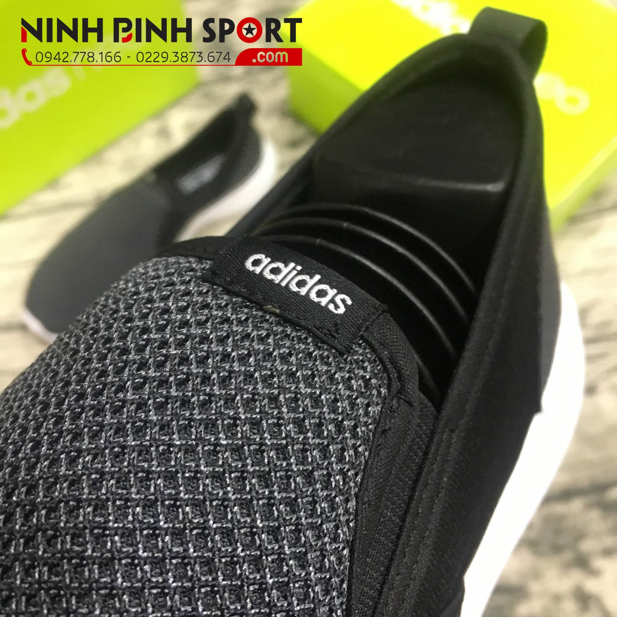 Adidas Neo Cloudfoam Lite Racer So Slipper Black AW4187