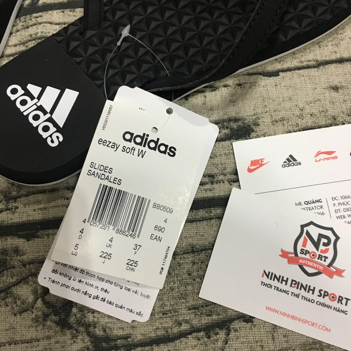 Tông thể thao nữ Adidas Eezay Soft Black BB0509