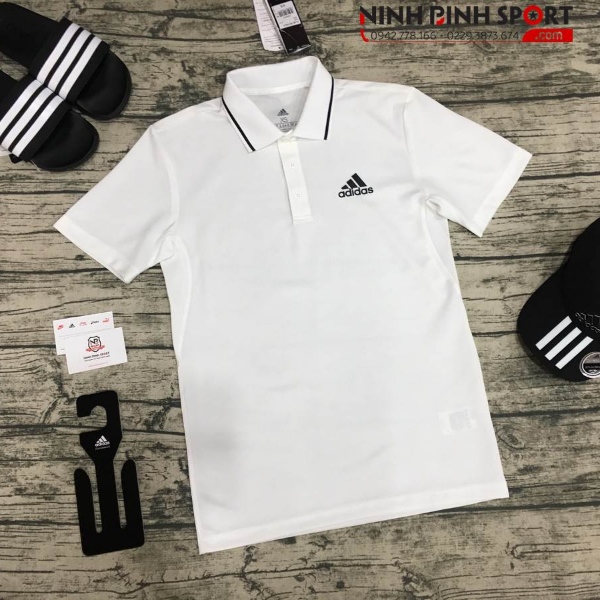 Adidas Club Polo Shirt - White CD7474