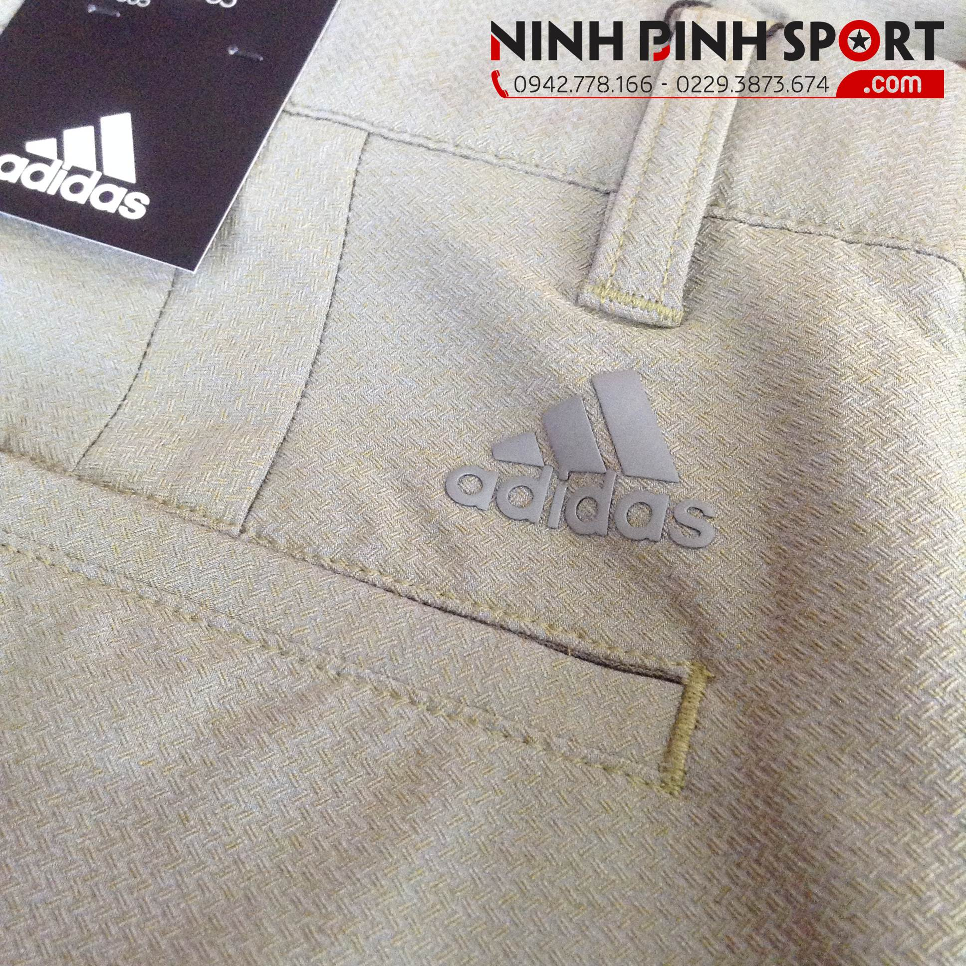Quần Thể Thao Adidas Golf Ultimate 365 Crosshatch Short - Khaki CE0475