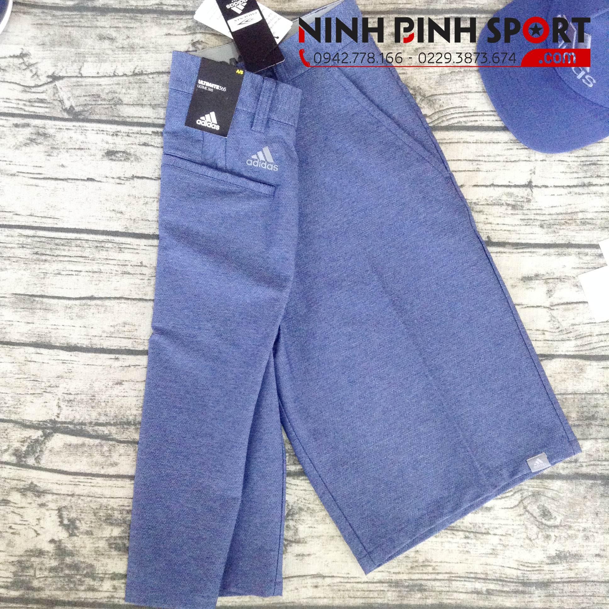 Quần Thể Thao Adidas Golf Ultimate 365 Crosshatch Short - Blue CE0476