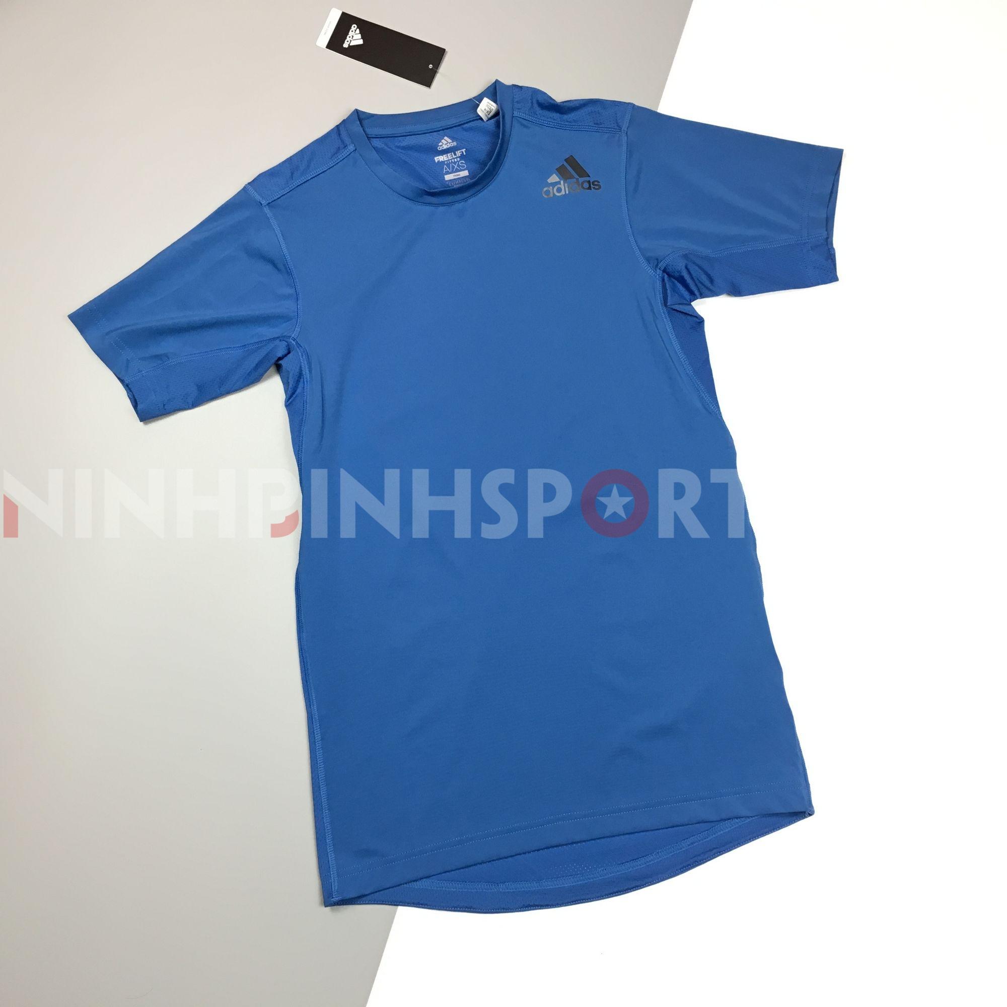 Áo thể thao nam Adidas FreeLift Fitted Elite Tee - Blue CE0829