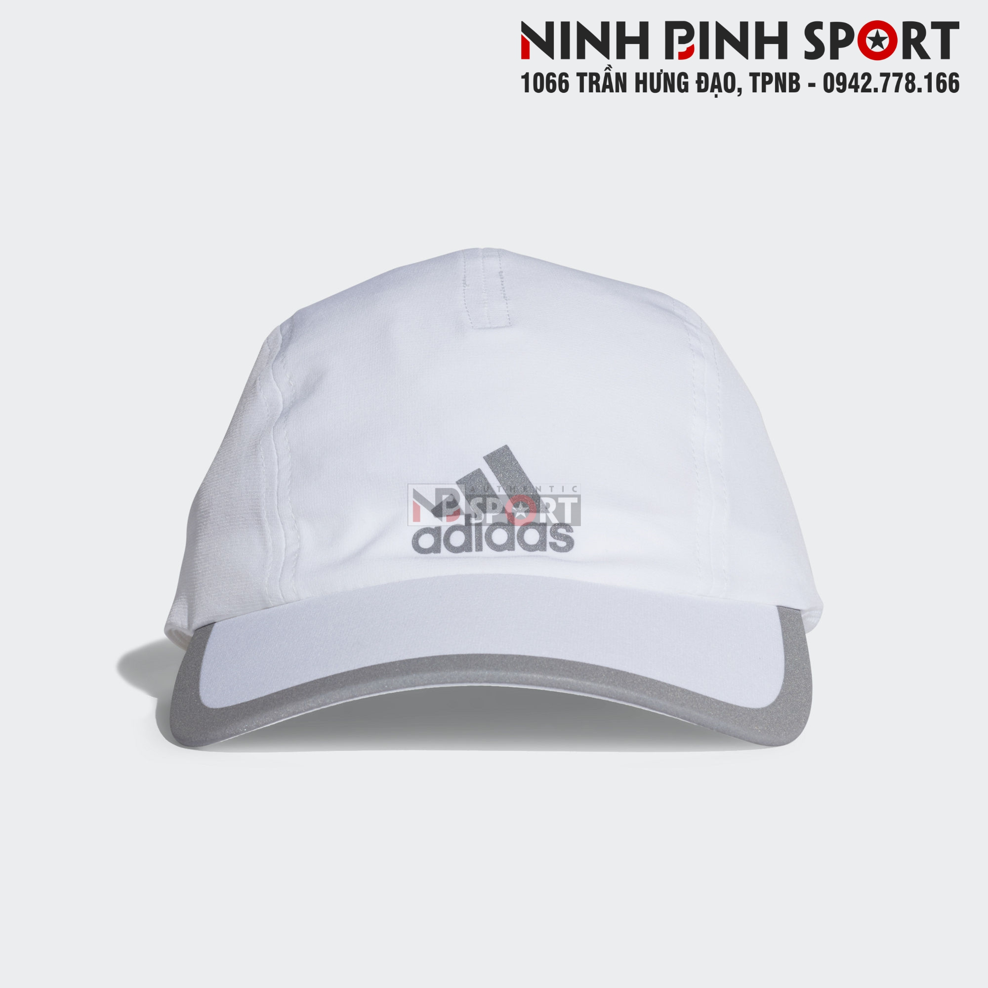 Mũ thể thao nam Adidas Climalite Running White CF9629