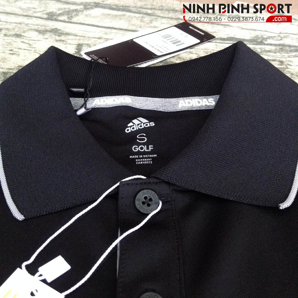Áo thể thao nam Adidas Golf Essential Textured Polo CV6394