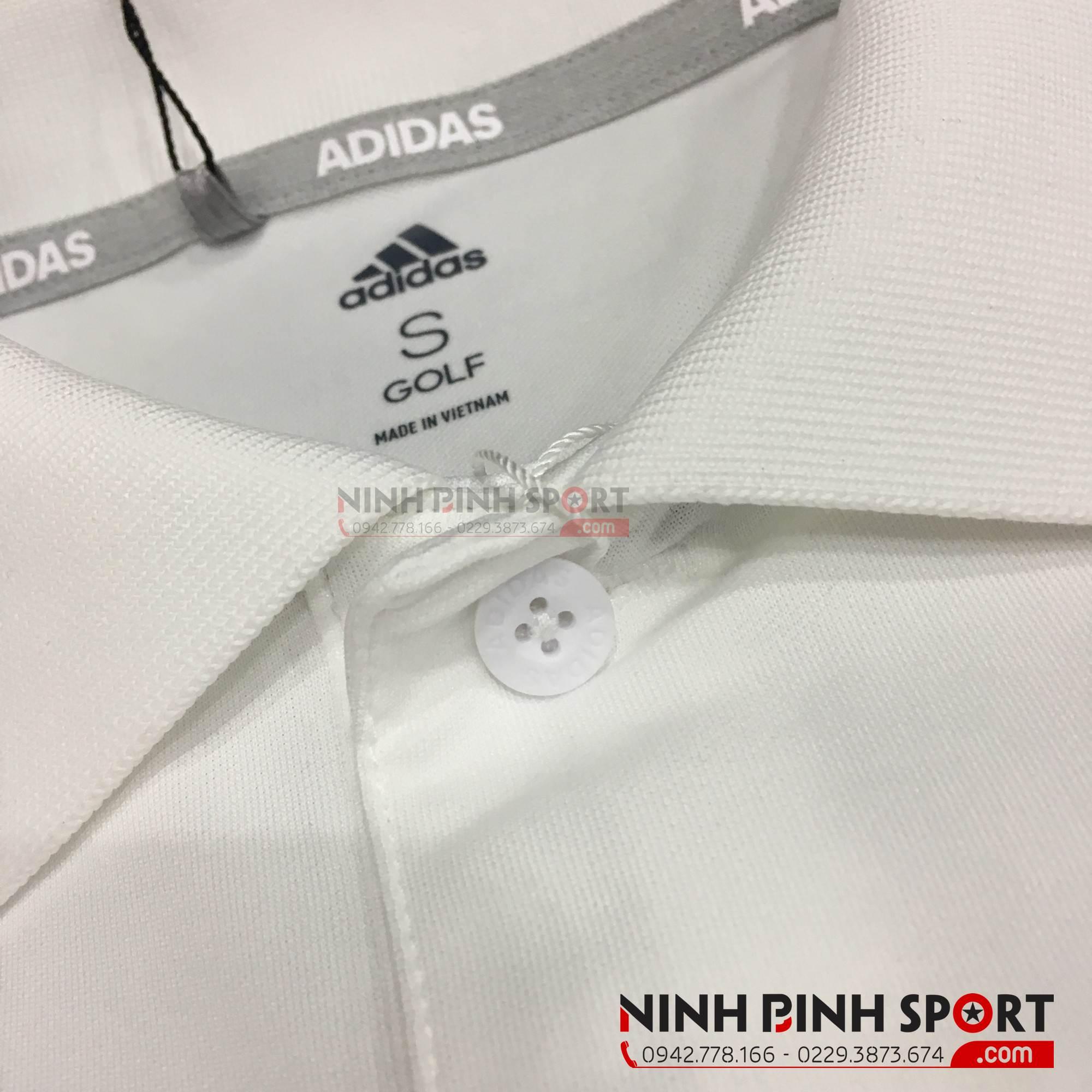 Áo thể thao nam Adidas Golf Bold 3-Stripes Polo White CY2161