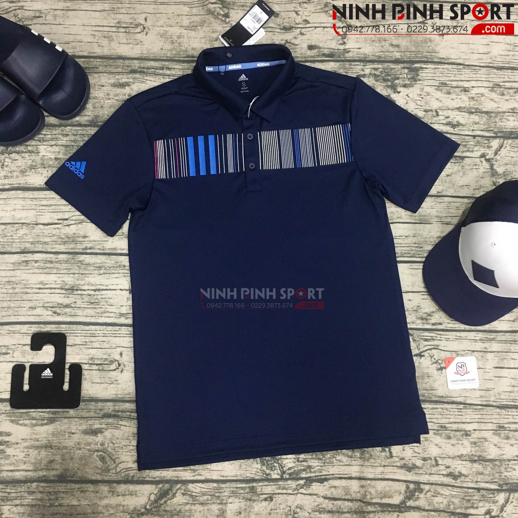 Áo thể thao nam Adidas Vertical Stripe Blue  CY9357
