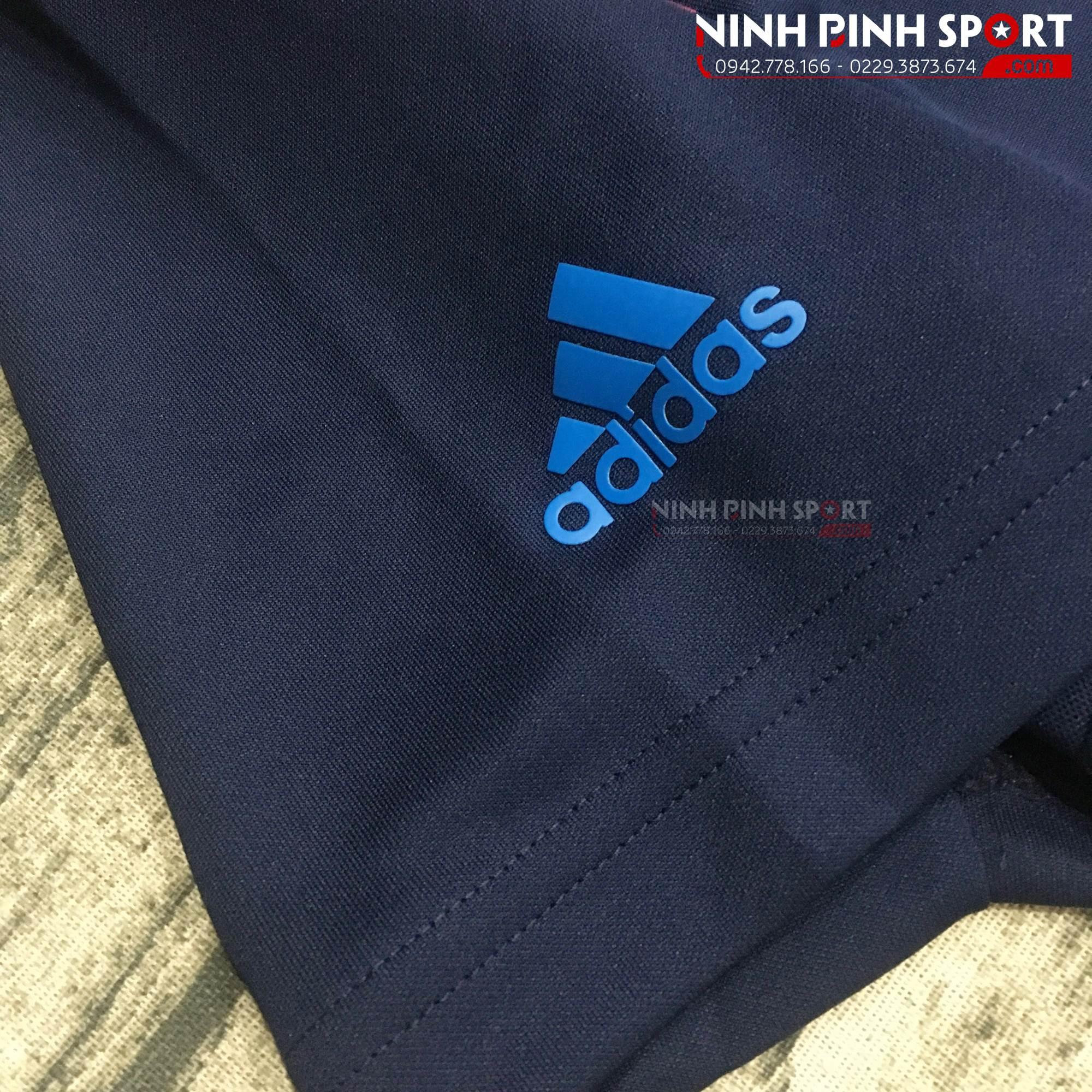 Áo thể thao nam Adidas Golf Vertical Stripe Blue Polo CY9357