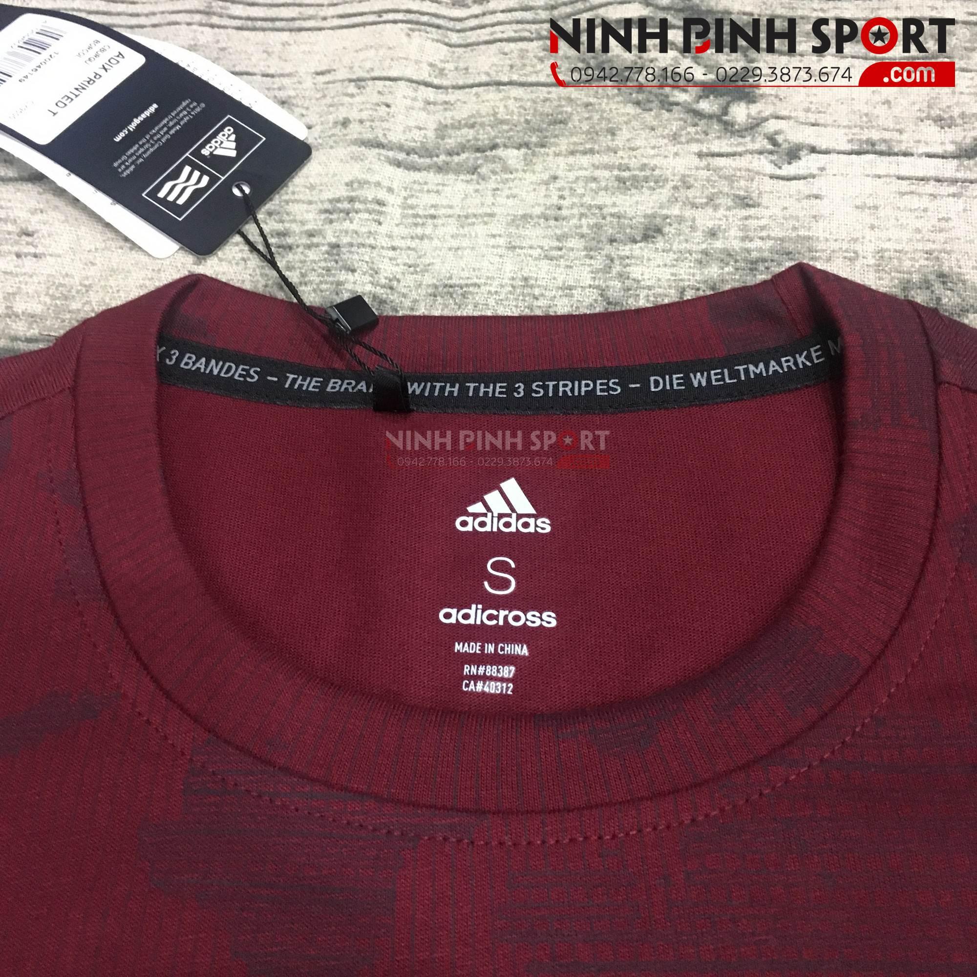 Áo thể thao nam Adidas Adicross Graphic Tee Collegiate Burgundy CY9500