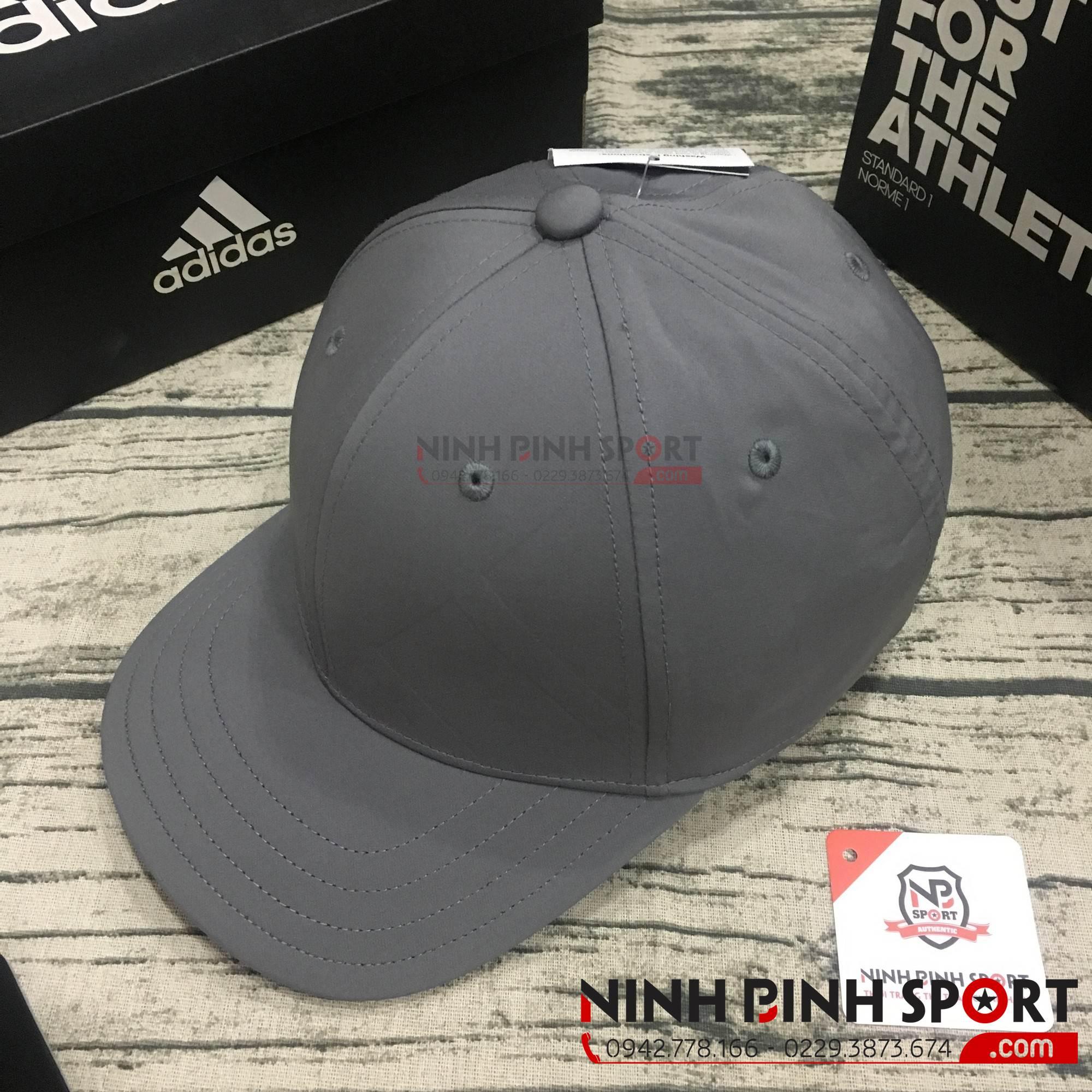 Mũ thể thao Adidas A-Stretch Bold Stripe Gray CY9736