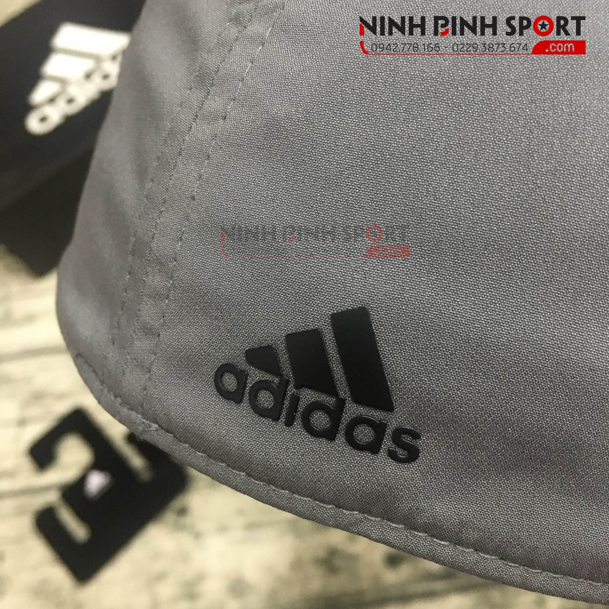 Mũ thể thao nam Adidas A-Stretch Bold Stripe Gray CY9736