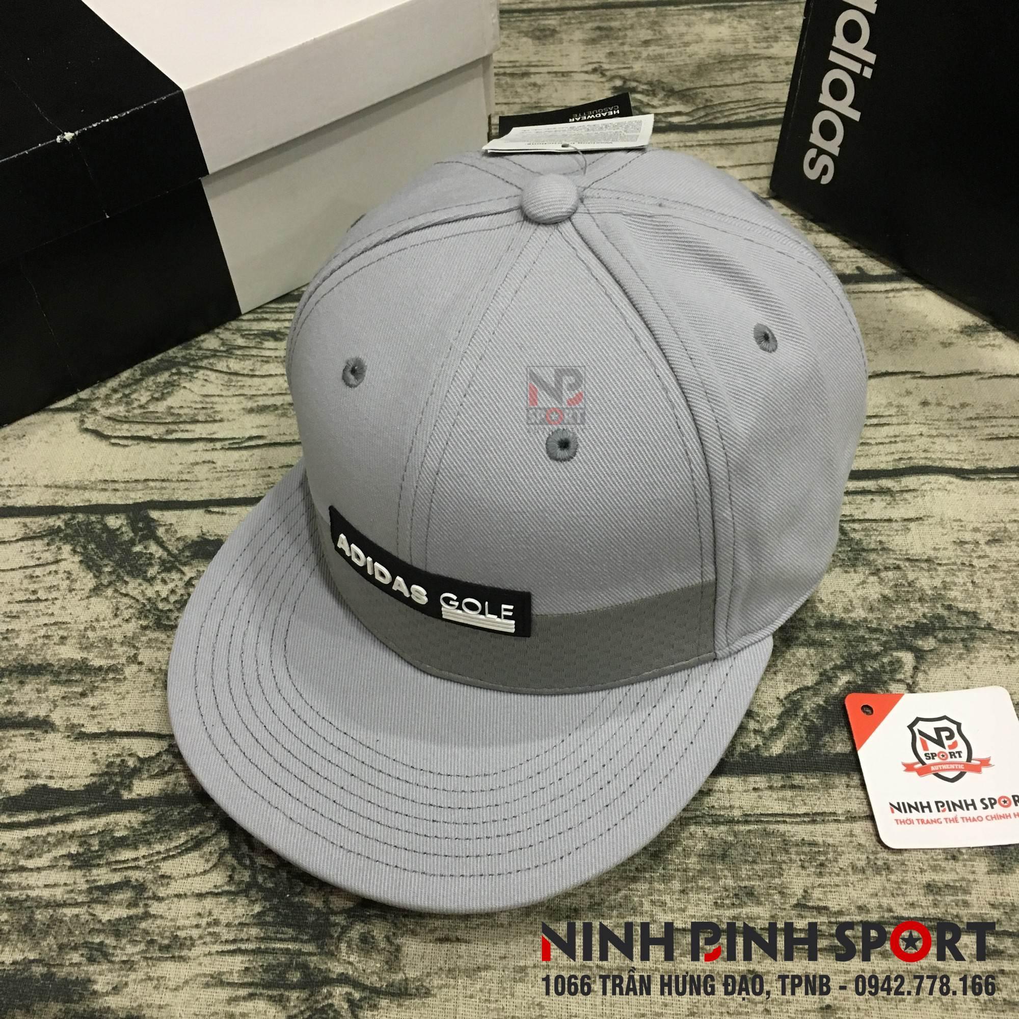Mũ thể thao Adidas Golf Tonal Block Flat-Brim Cap Grey CY9772