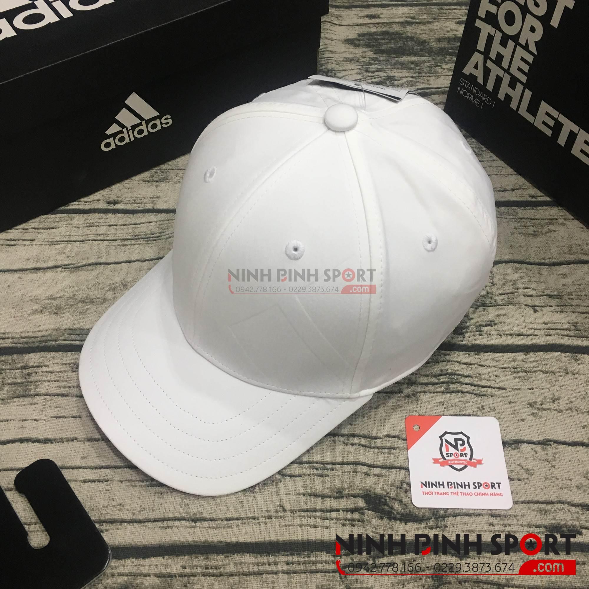 Mũ thể thao Adidas A-Stretch Bold Stripe White CY9773