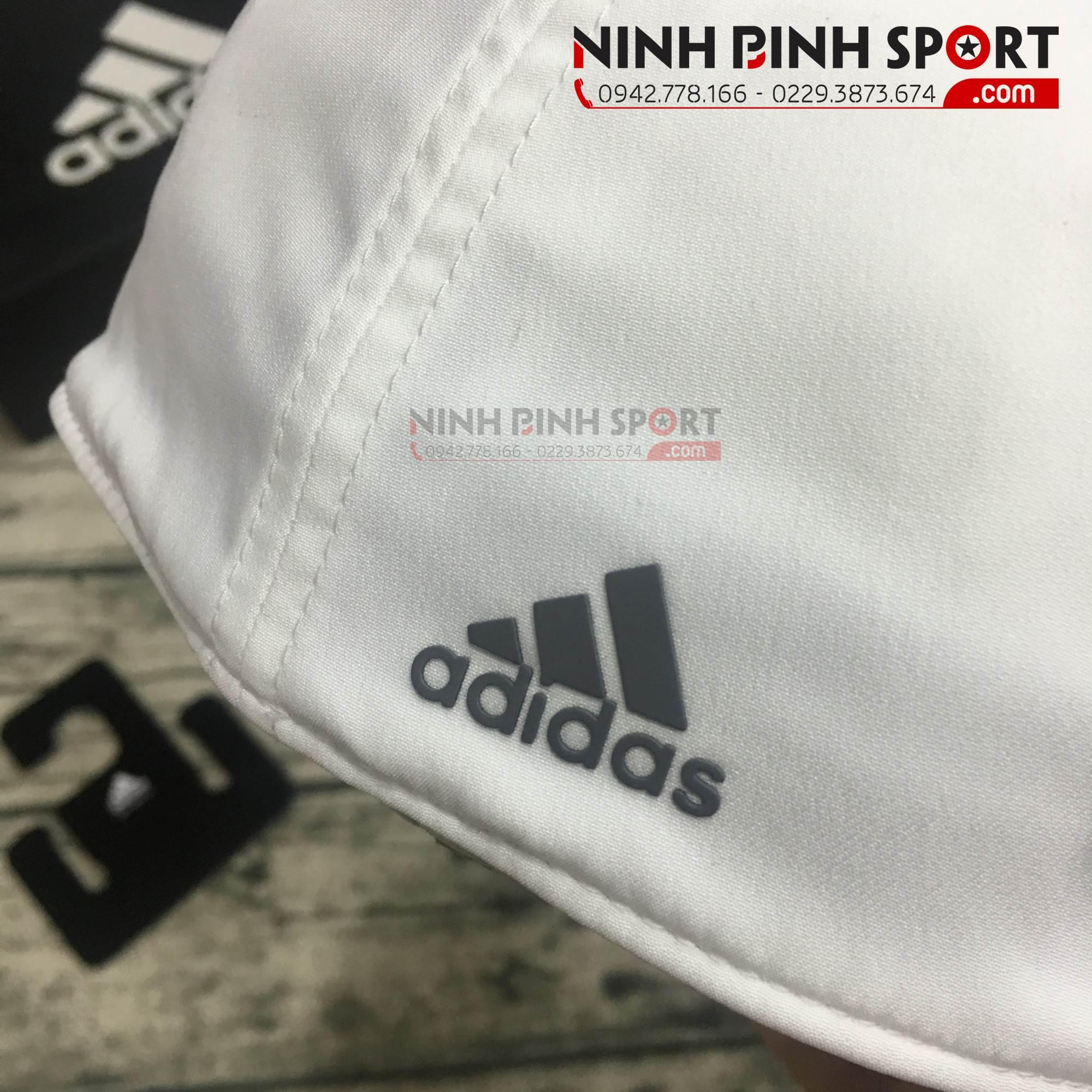 Mũ thể thao nam Adidas A-Stretch Bold Stripe White CY9773
