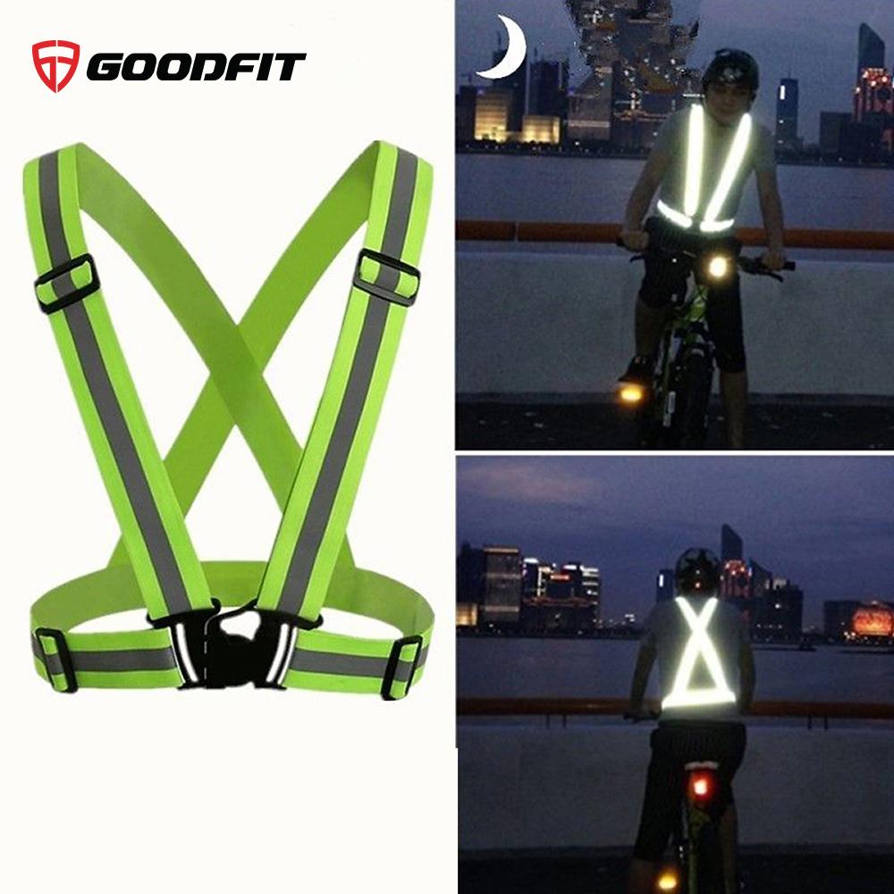 Dây đai phản quang chạy bộ, đạp xe co giãn 4 chiều GoodFit GF04RA