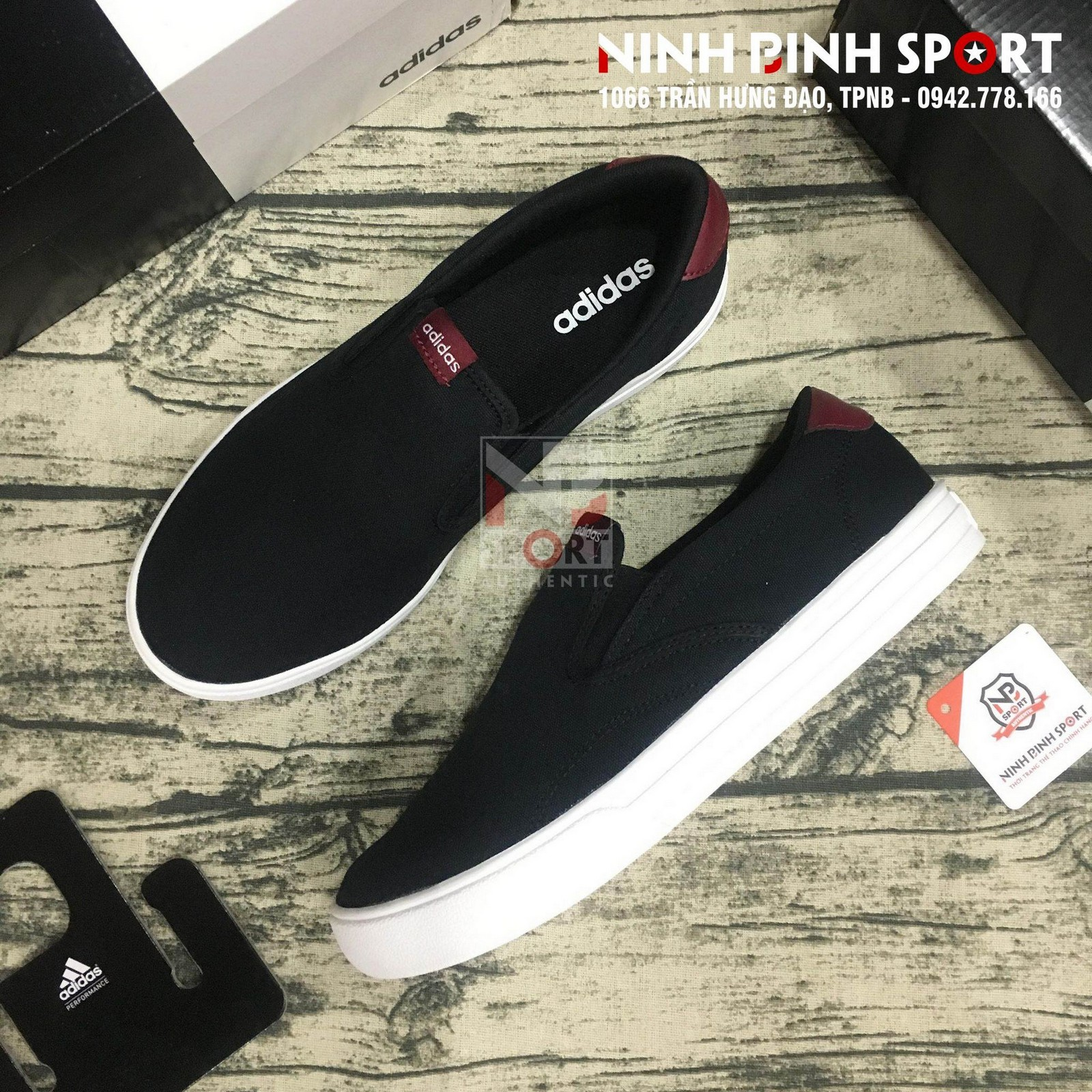Giày thể thao nam Adidas Neo VS Set Slip-On DB0103