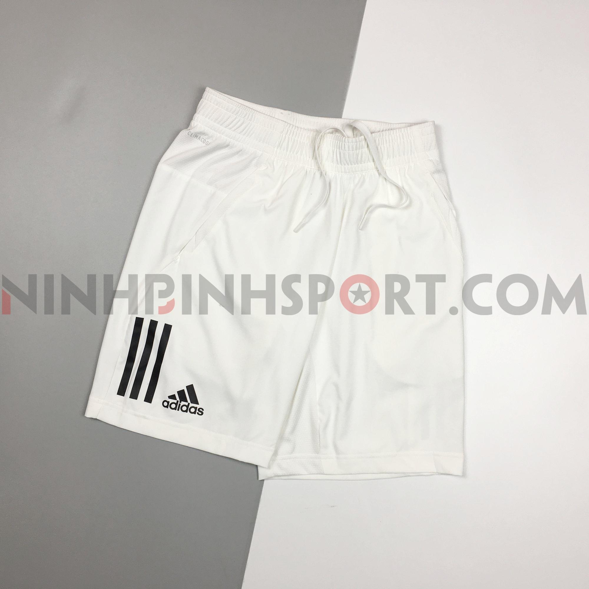 Quần thể thao nam Adidas Club 3Stripes 9in White DP0302