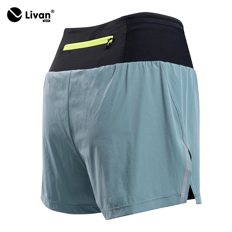 Quần short nữ 2 lớp màu xanh LV20210222-XA