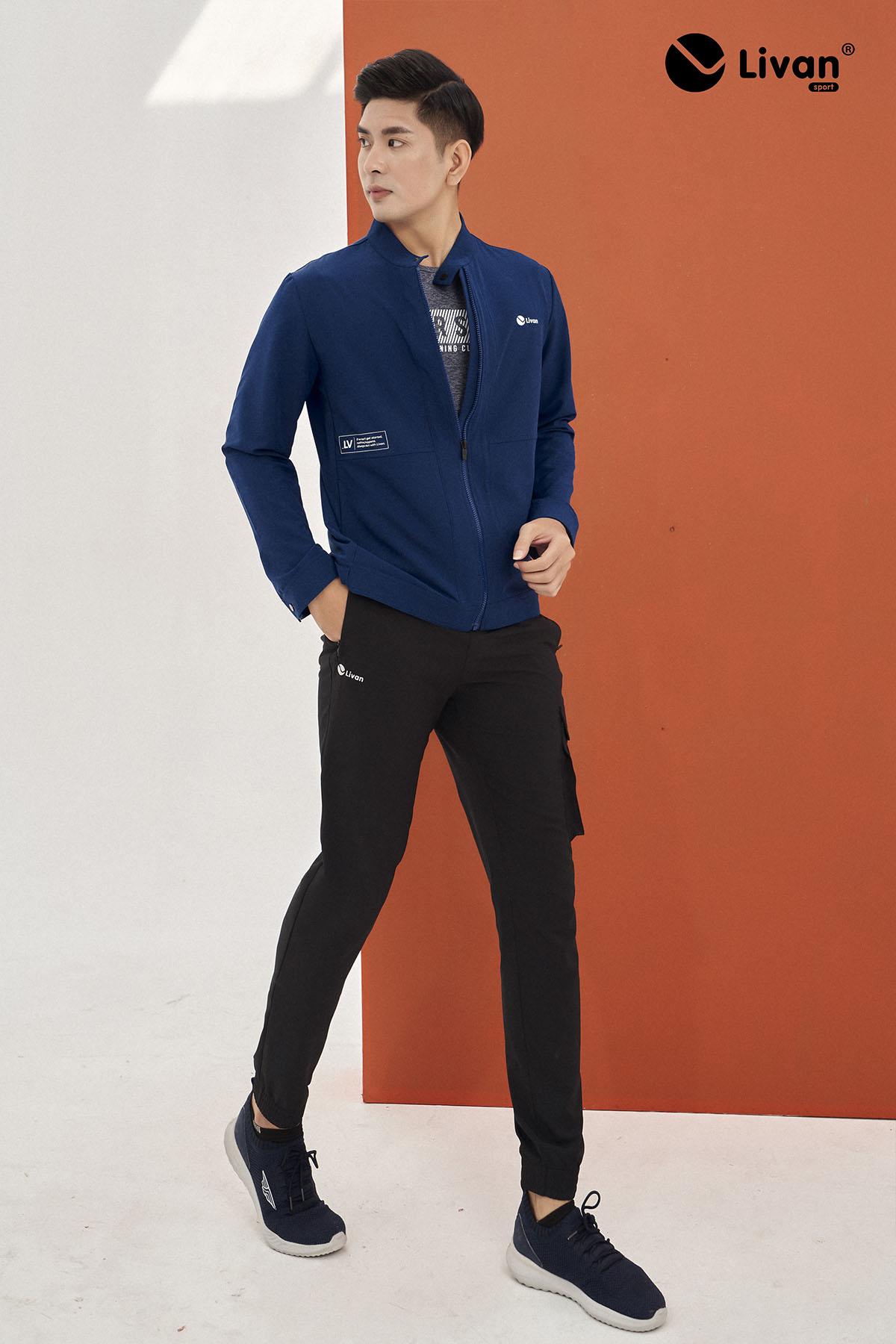 Quần dài thể thao jogger nam túi hộp LV20220022-DE