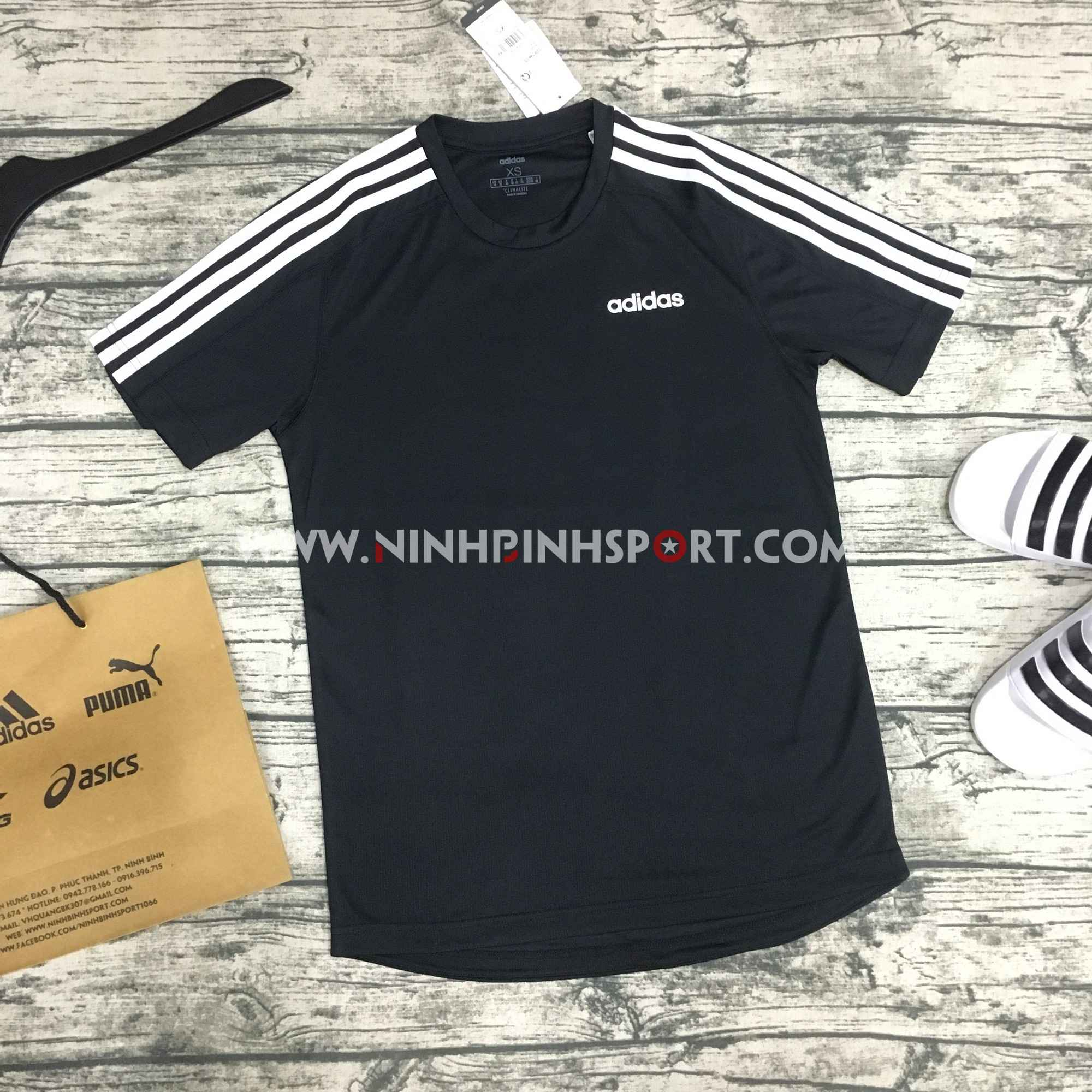 Áo thể thao nam Adidas Design 2 Move 3-Stripes Tee Black DT3043