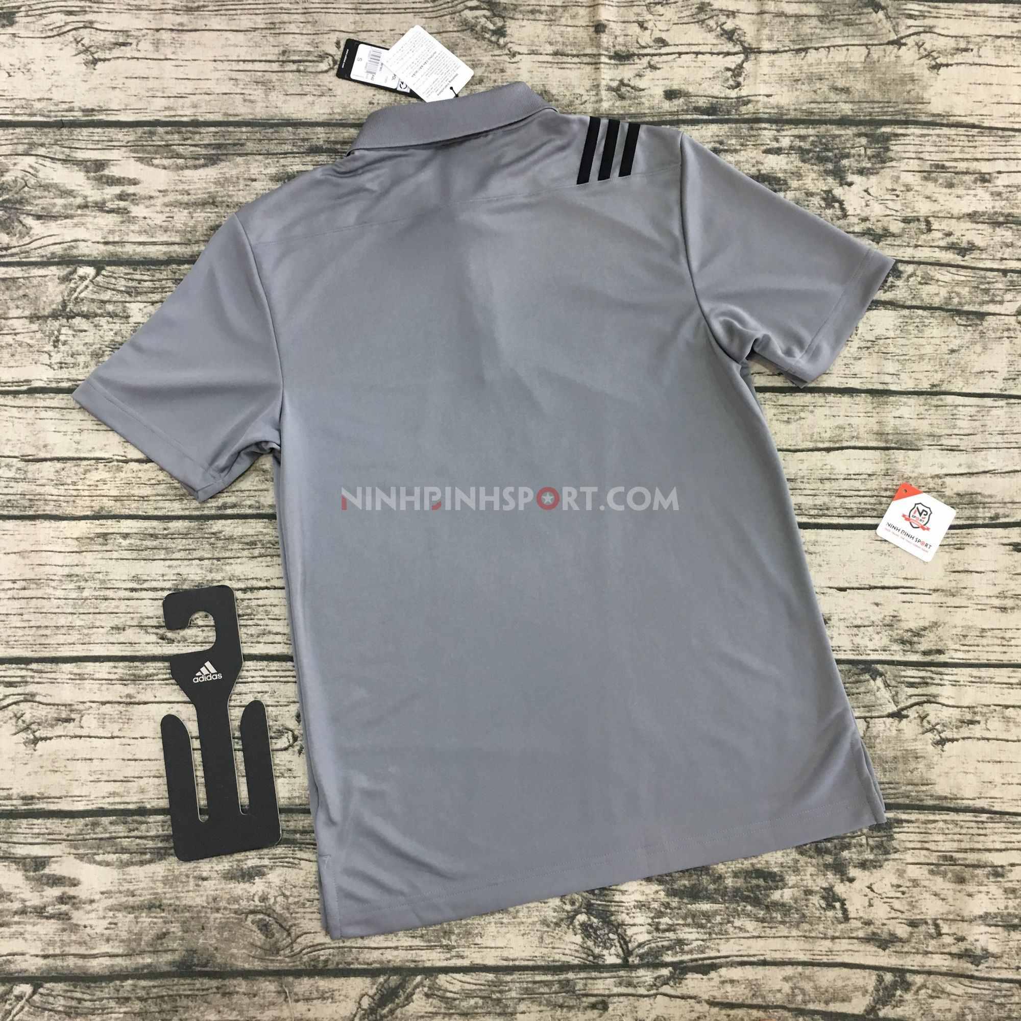 Áo thể thao nam Adidas Golf 3-Stripes Polo - Grey DT3608