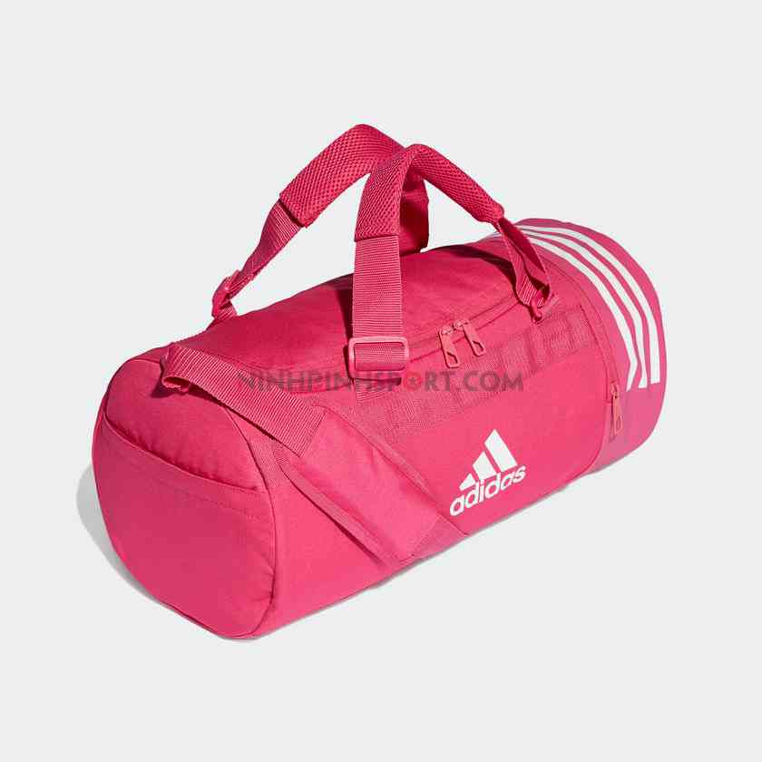 Túi thể thao nam Adidas  Convertible 3-Stripes Duffel Small Pink DT8647