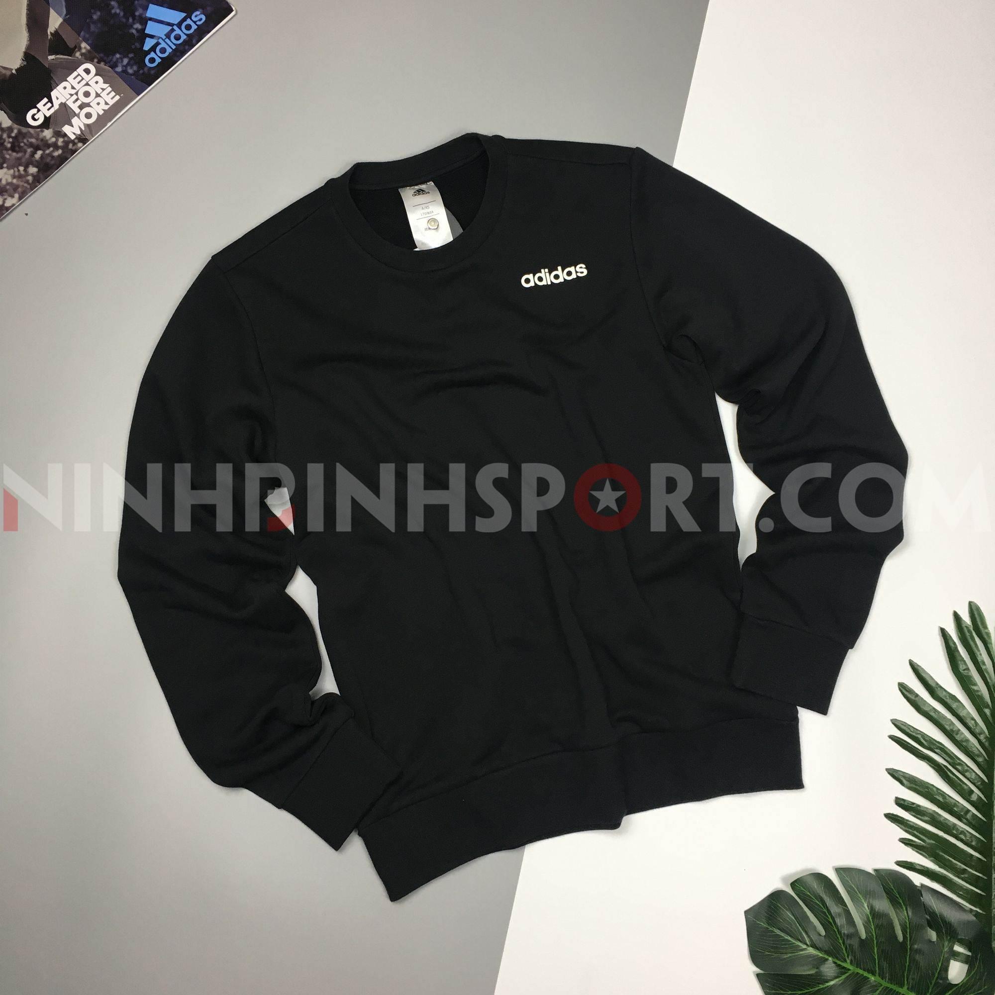 Áo dài tay thể thao nam Adidas E PLN CREW FT - DU0395