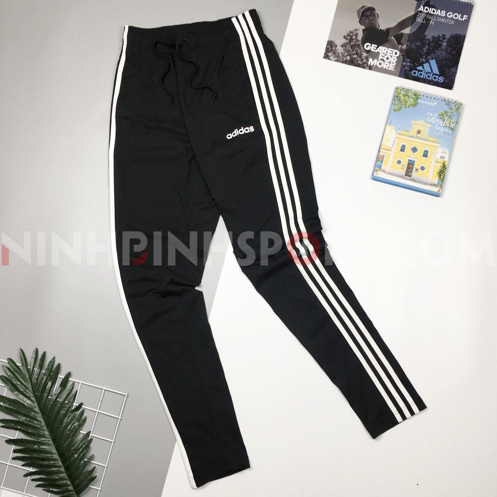 Quần dài thể thao nam Adidas Essentials 3-Stripes Black DU0456