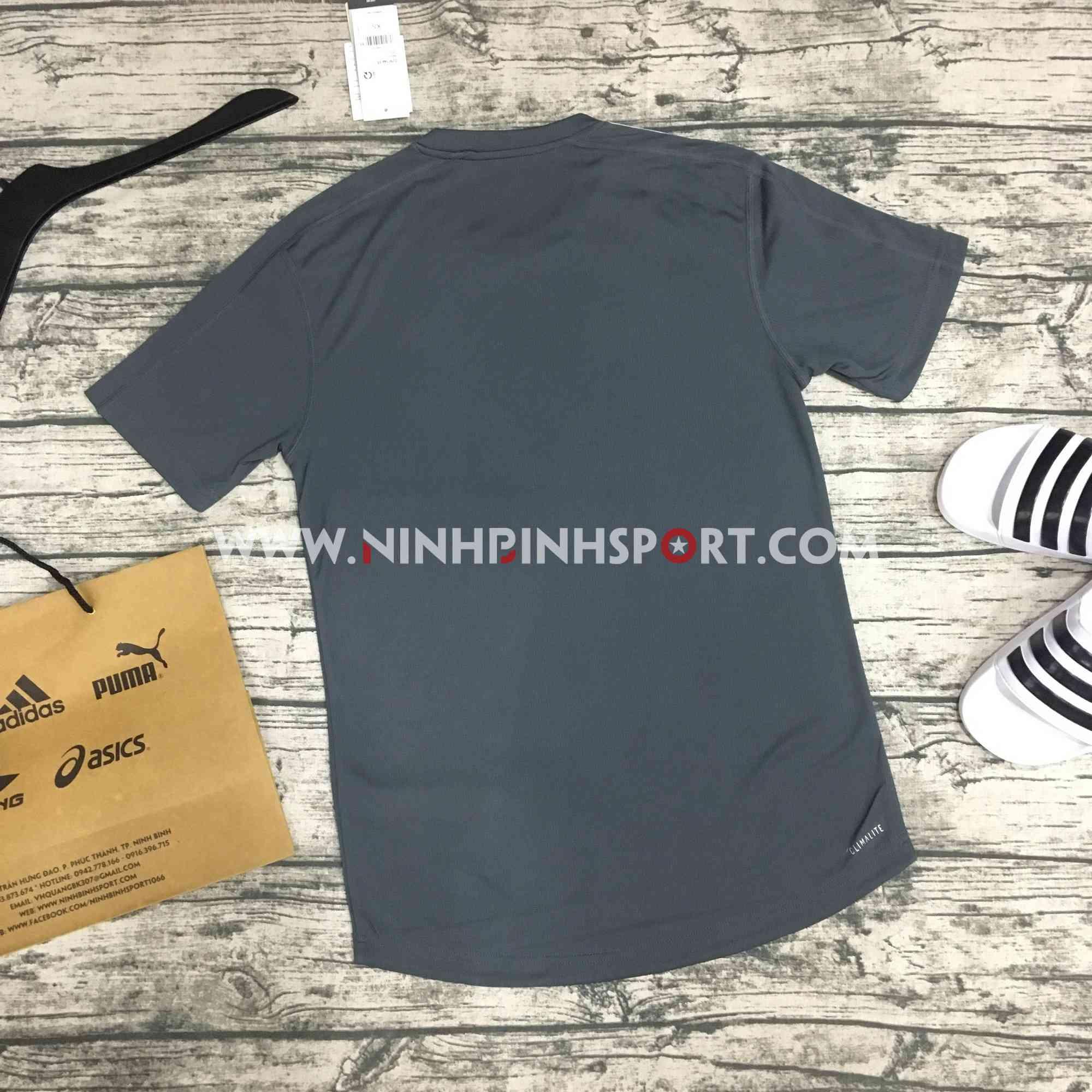 Áo thể thao nam Adidas Design 2 Move 3-Stripes Tee Grey DU1259