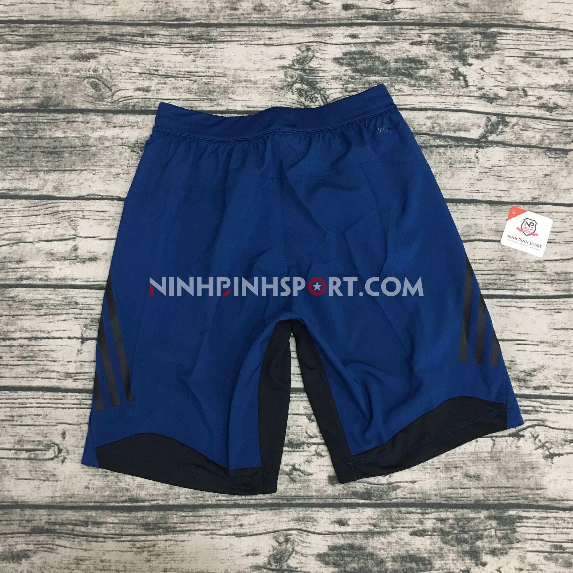Quần thể thao nam Adidas 4KRFT Tech Woven 3-Stripes Blue DU1566