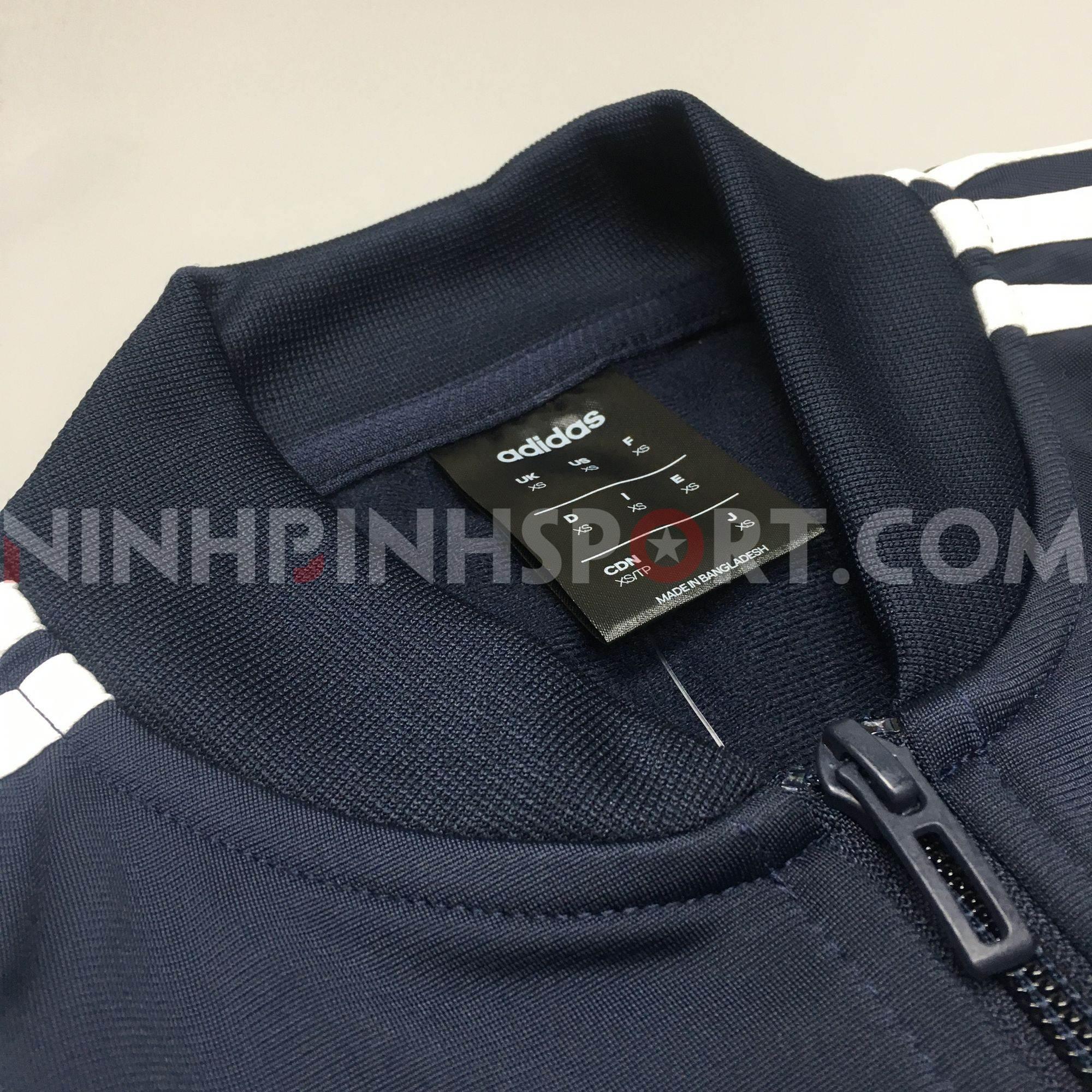 Áo khoác thể thao nam Adidas 3-Stripes Track Blue DV2468