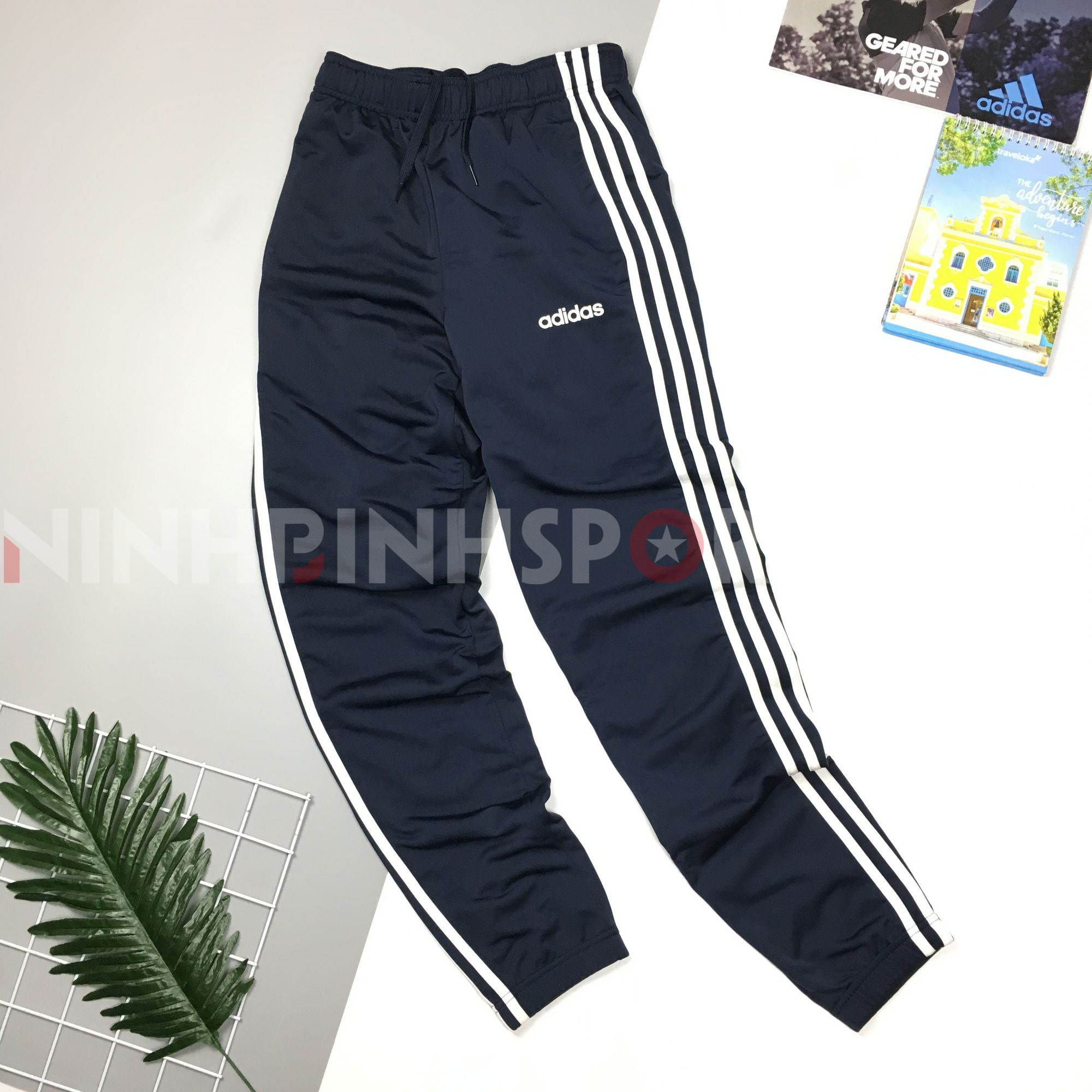 Quần thể thao nam Adidas 3-Stripes Track Blue DV2468Q