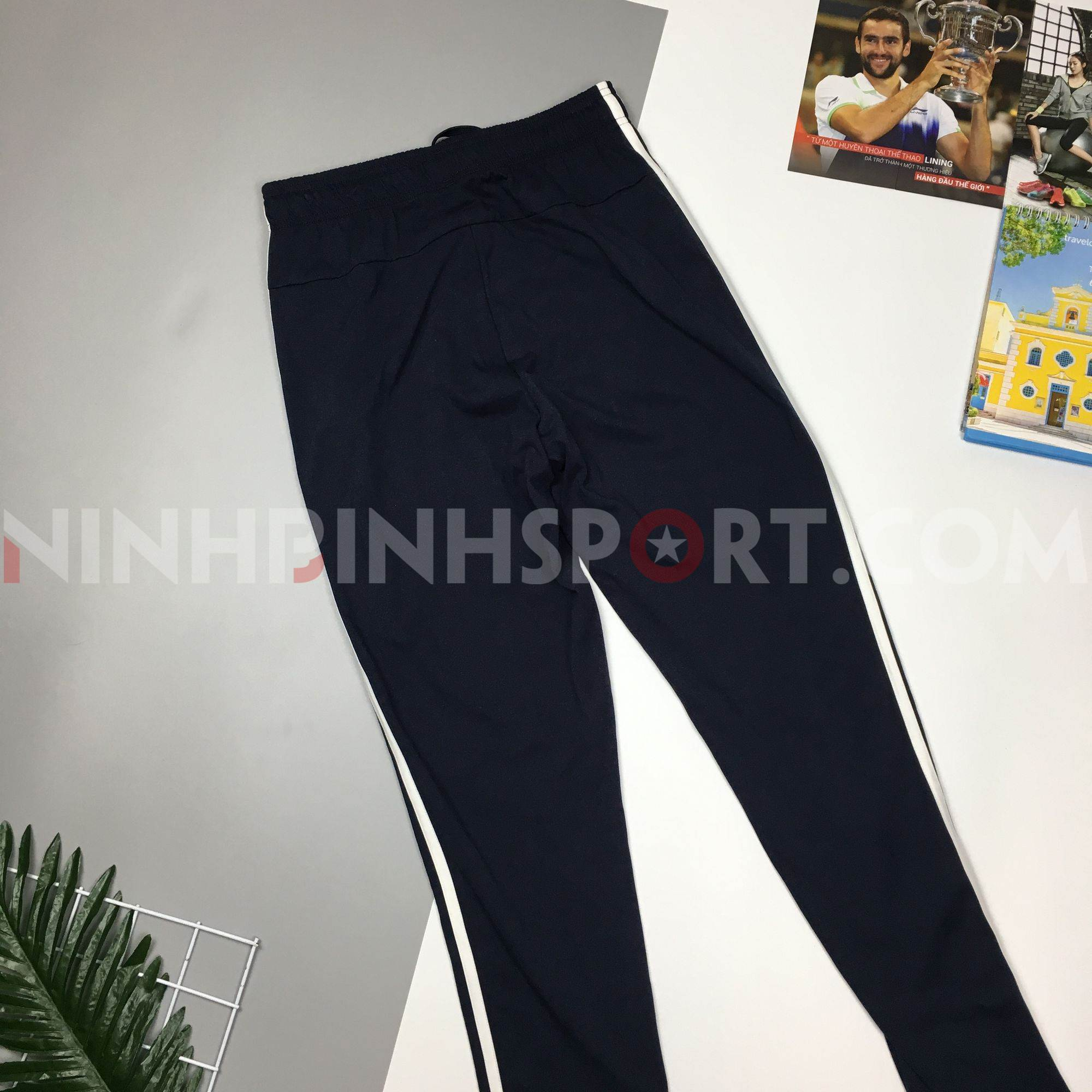 Quần thể thao nam Adidas 3-Stripes Track Blue DV2468