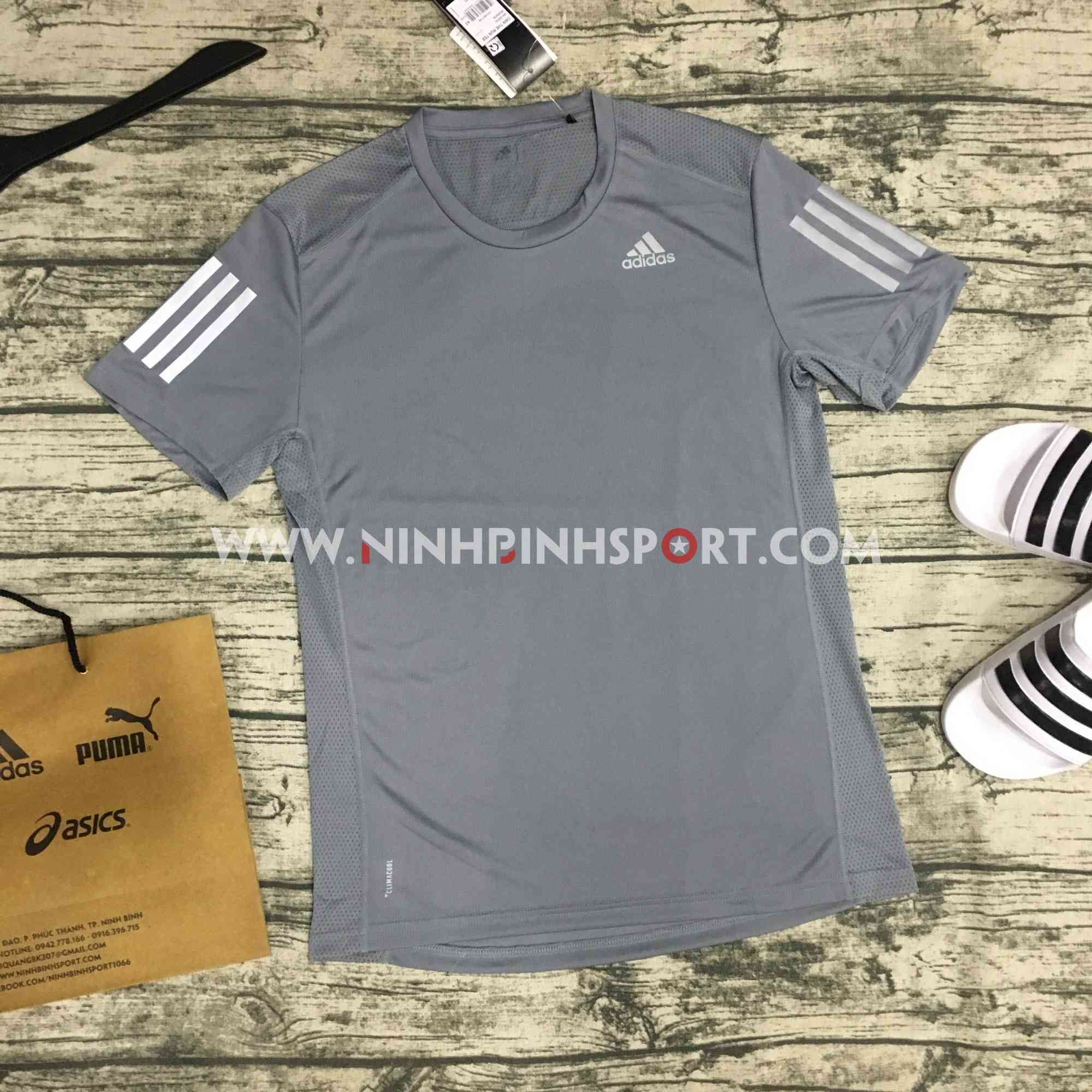 Áo thể thao nam Adidas Own the Run Tee Grey DX1320